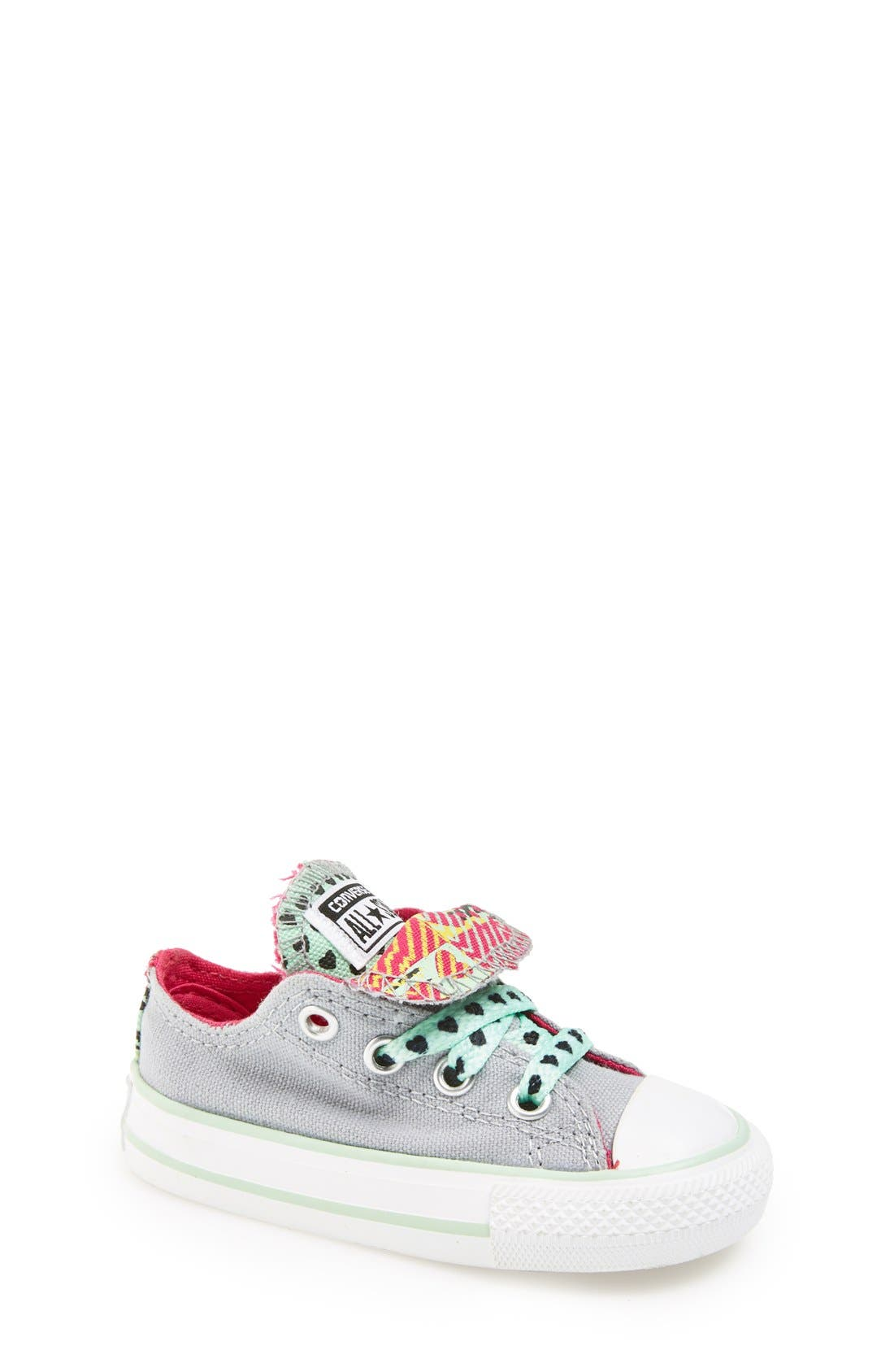 Main Image - Converse Chuck Taylor® All Star® Double Tongue Sneaker (Baby, Walker & Toddler)