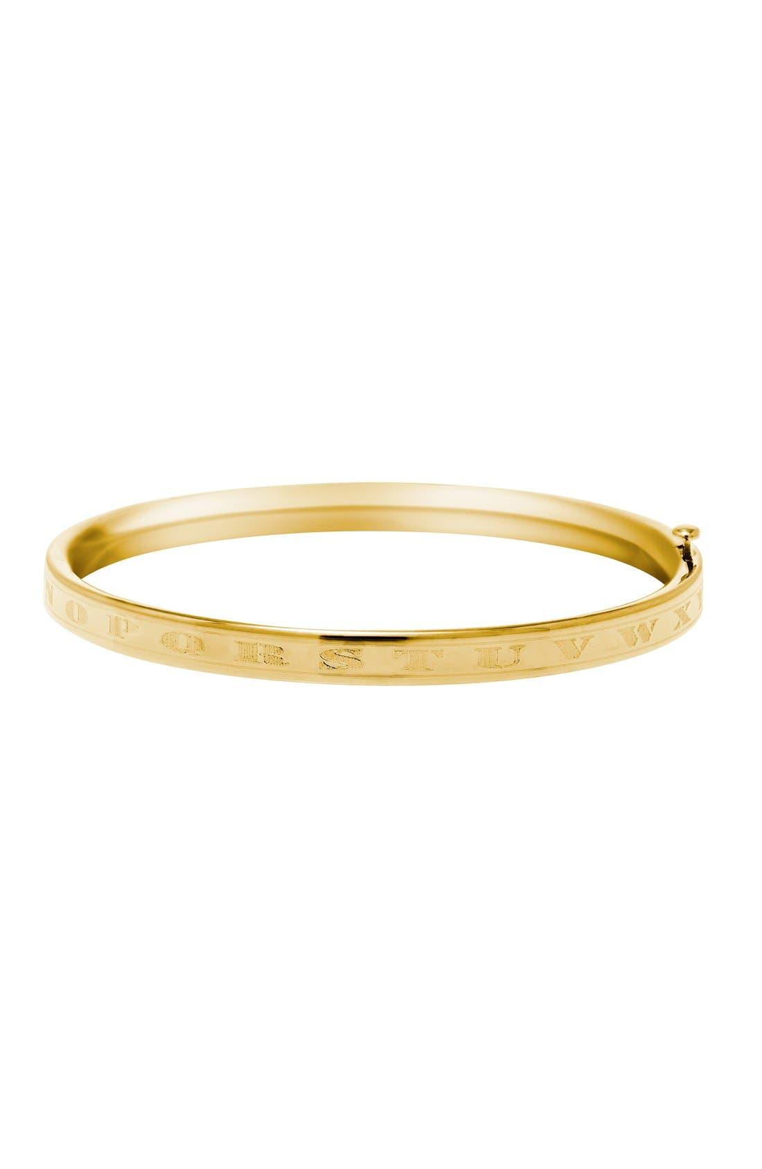 'Alpha Baby' Gold Bracelet,                         Main,                         color, Gold