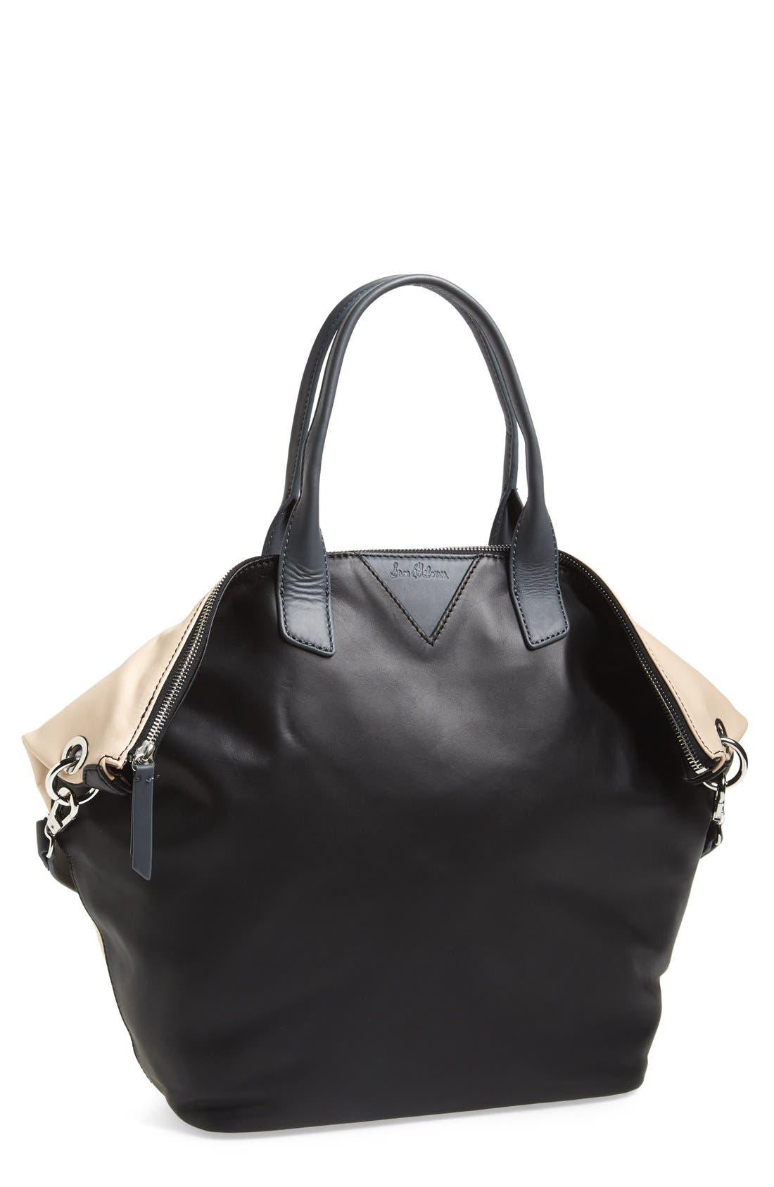 Alternate Image 1 Selected - Sam Edelman 'Sharp Graphic' Leather Satchel