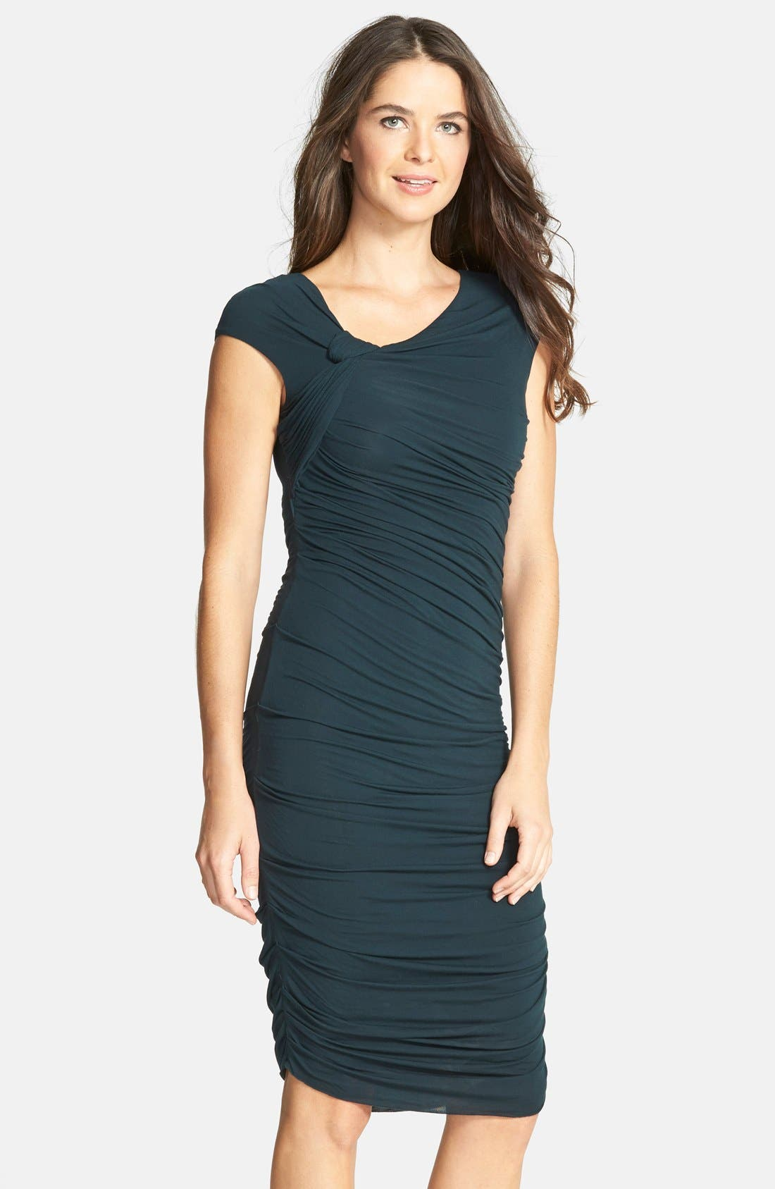 Alternate Image 1 Selected - B44 Dressed by Bailey 44 'Ski Bunny' Ruched Jersey Sheath Dress