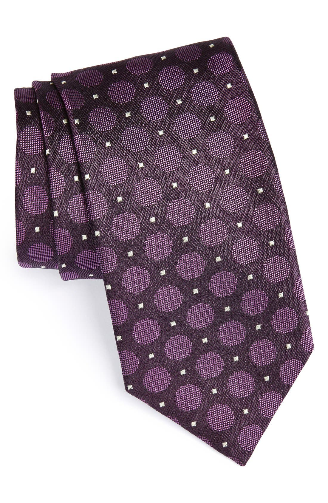 Main Image - Canali Dot Woven Silk Tie