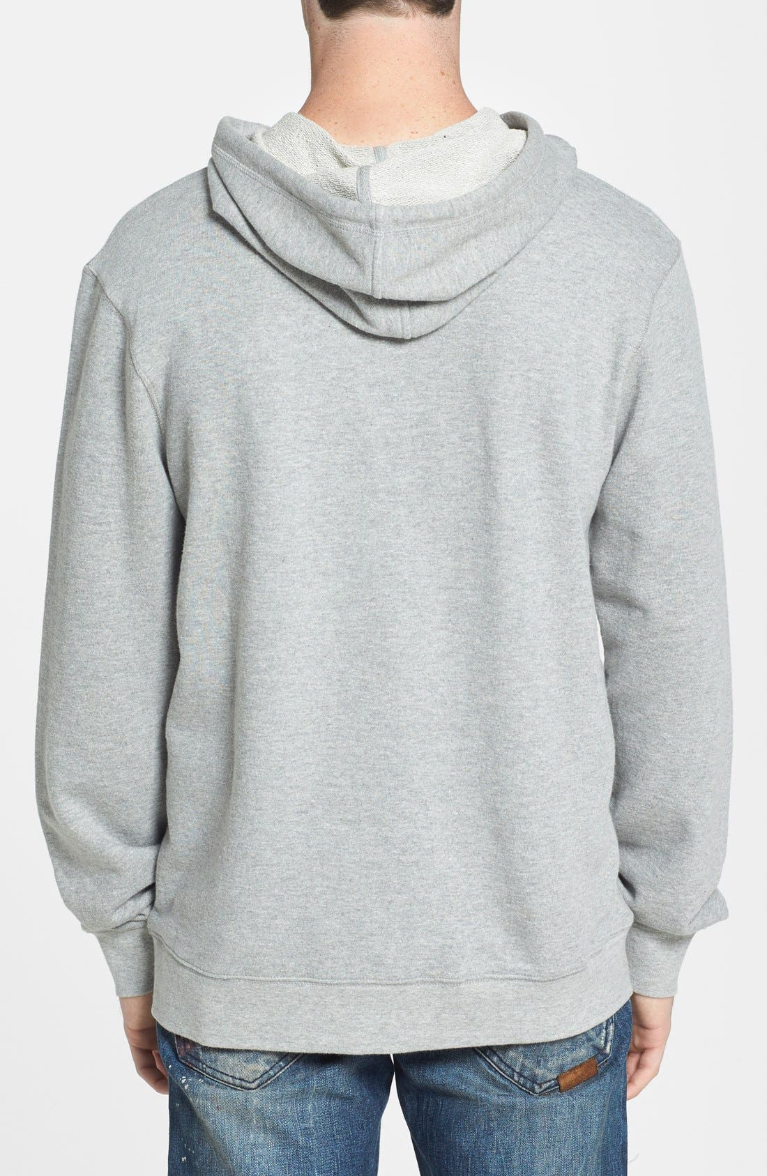 'Dissent' Hoodie,                             Alternate thumbnail 2, color,                             Heather Grey