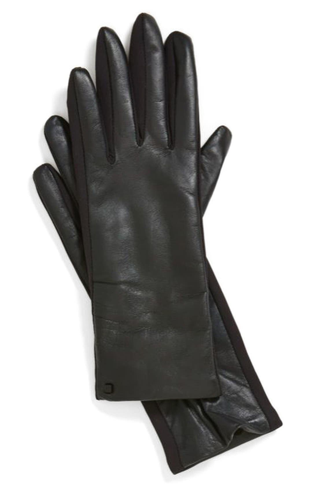 Alternate Image 1 Selected - U|R Leather Tech Gloves