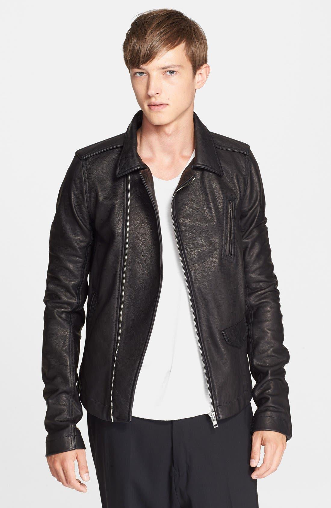 Main Image - Rick Owens 'Stooges' Leather Biker Jacket
