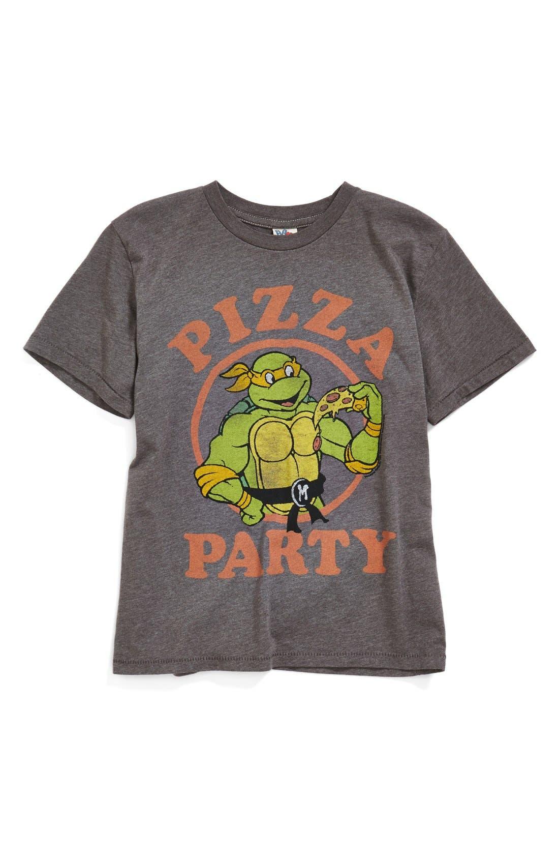 Main Image - Junk Food 'Teenage Mutant Ninja Turtles - Pizza Party' Graphic T-Shirt (Toddler Boys & Little Boys)