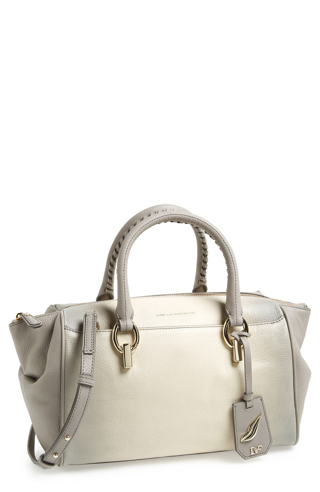 Alternate Image 1 Selected - Diane von Furstenberg 'Small Sutra' Leather Duffel