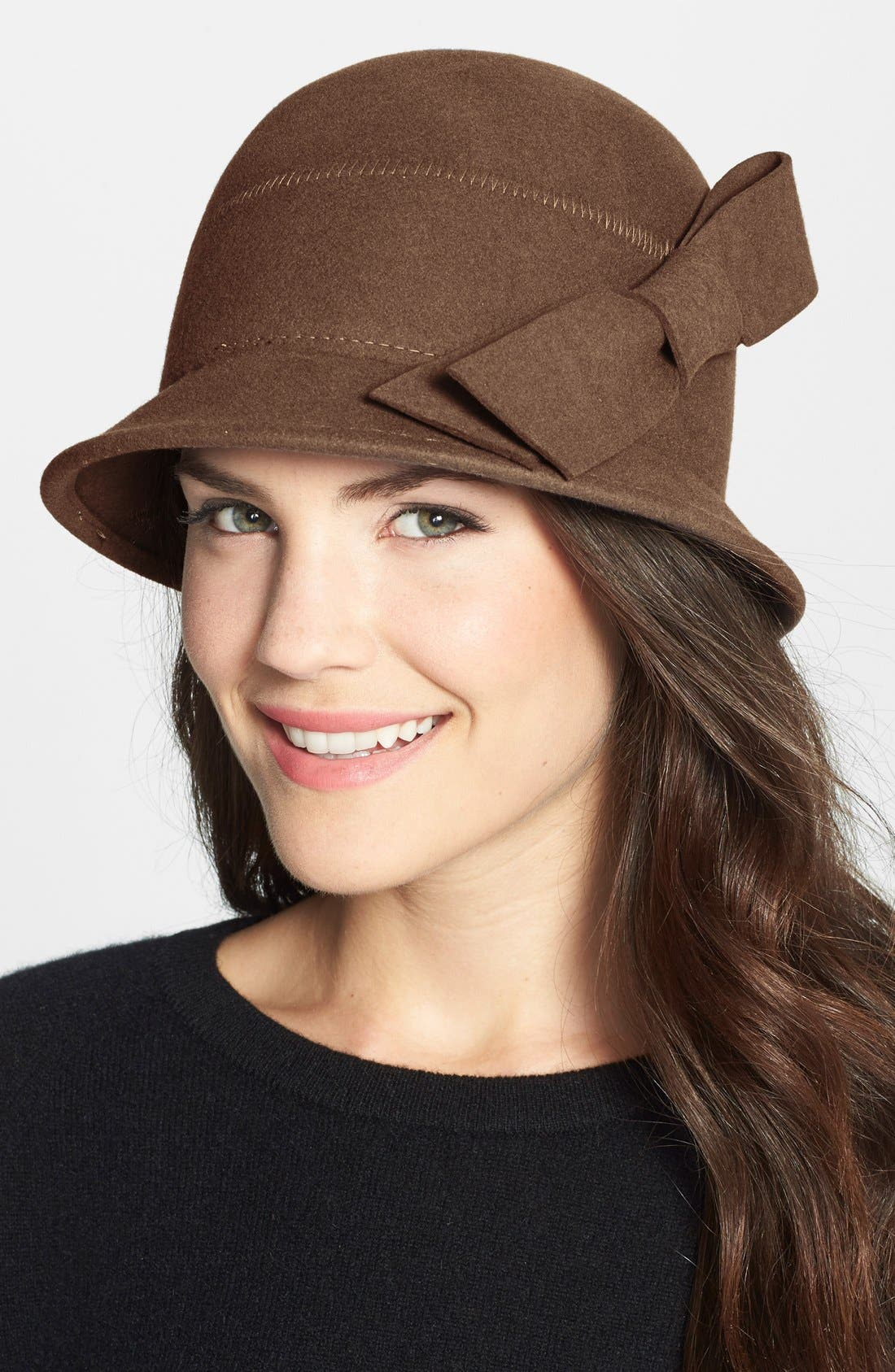 Alternate Image 1 Selected - Nordstrom Bow Wool Cloche