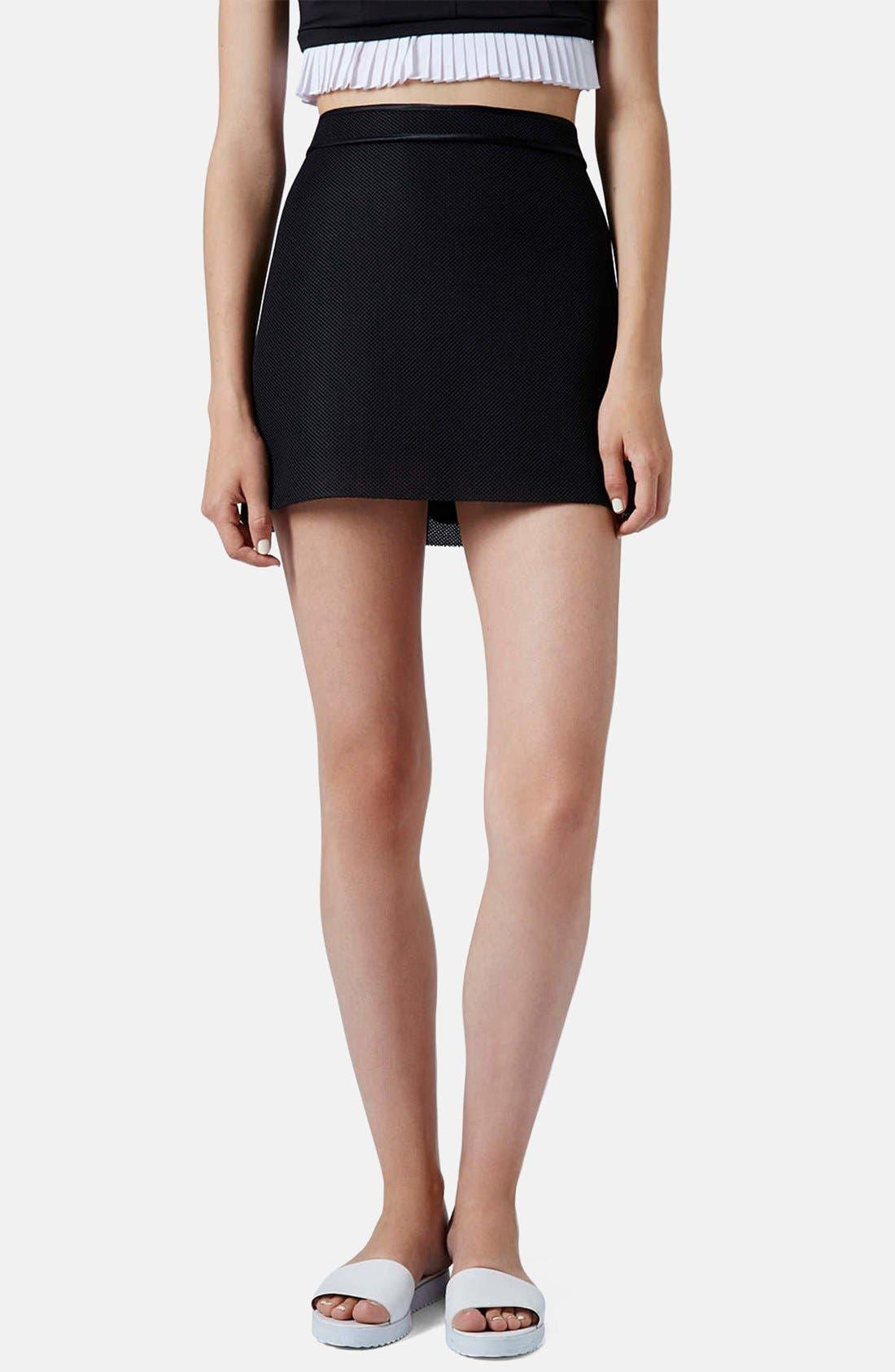 Main Image - Topshop Airtex Miniskirt
