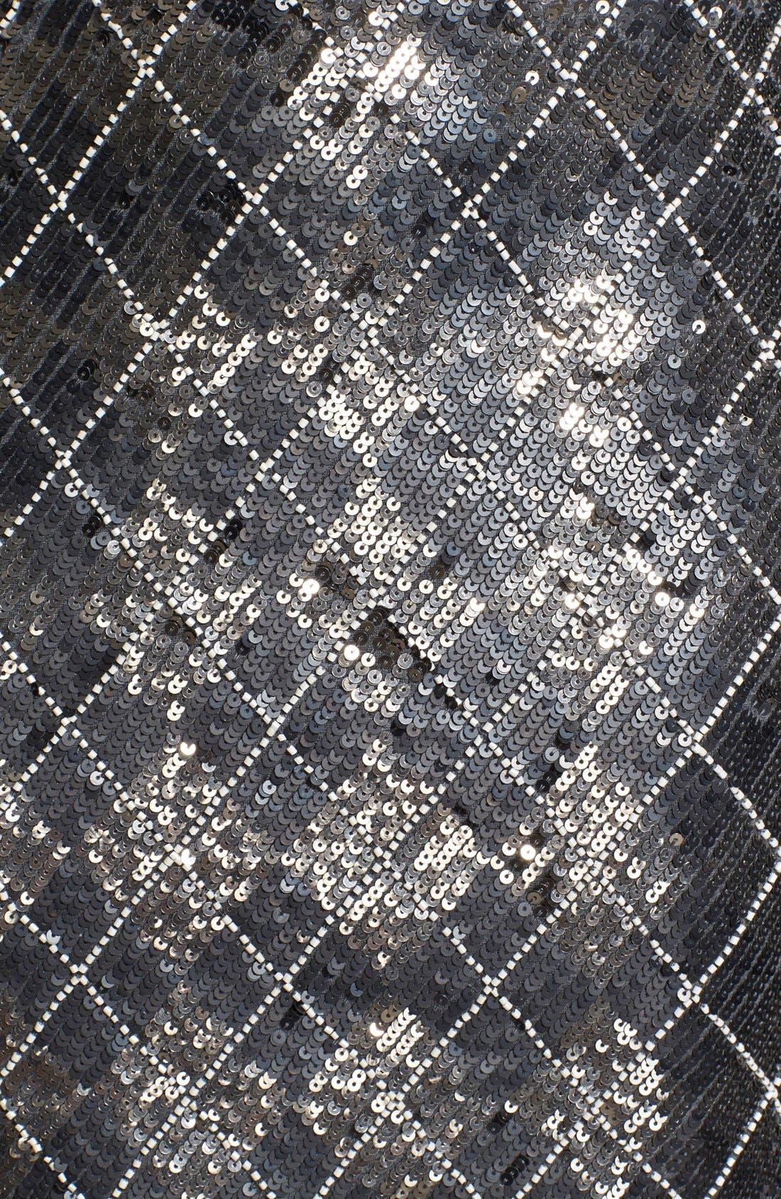 Alternate Image 3  - Haute Hippie Sequin Argyle Skirt