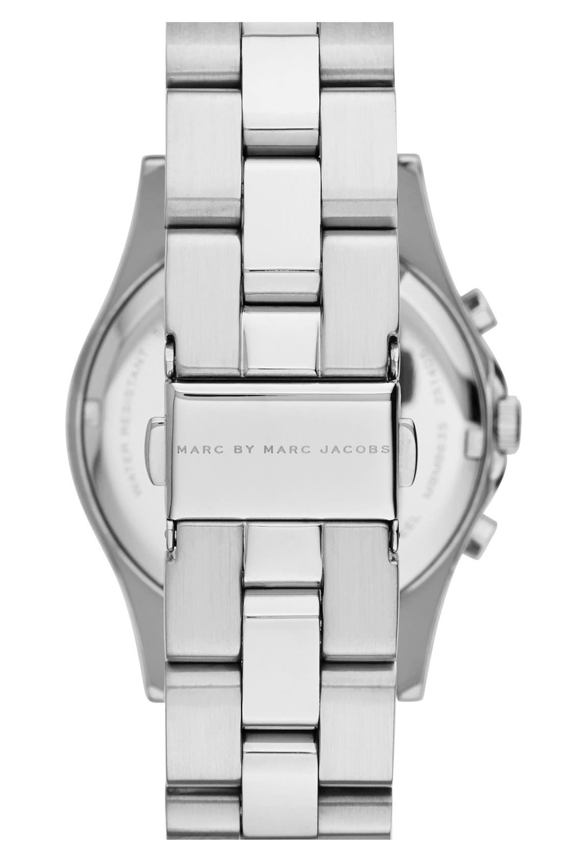 Alternate Image 2  - MARC JACOBS 'Henry' Chronograph Bracelet Watch, 37mm (Nordstrom Exclusive)