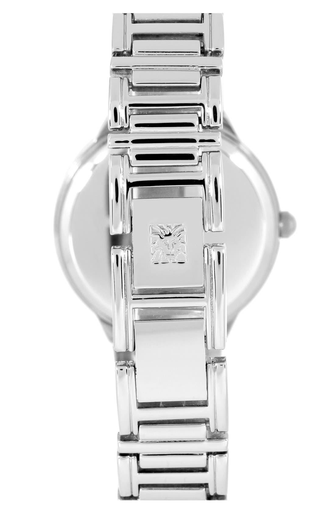 Alternate Image 2  - Anne Klein Round Bracelet Watch, 39mm