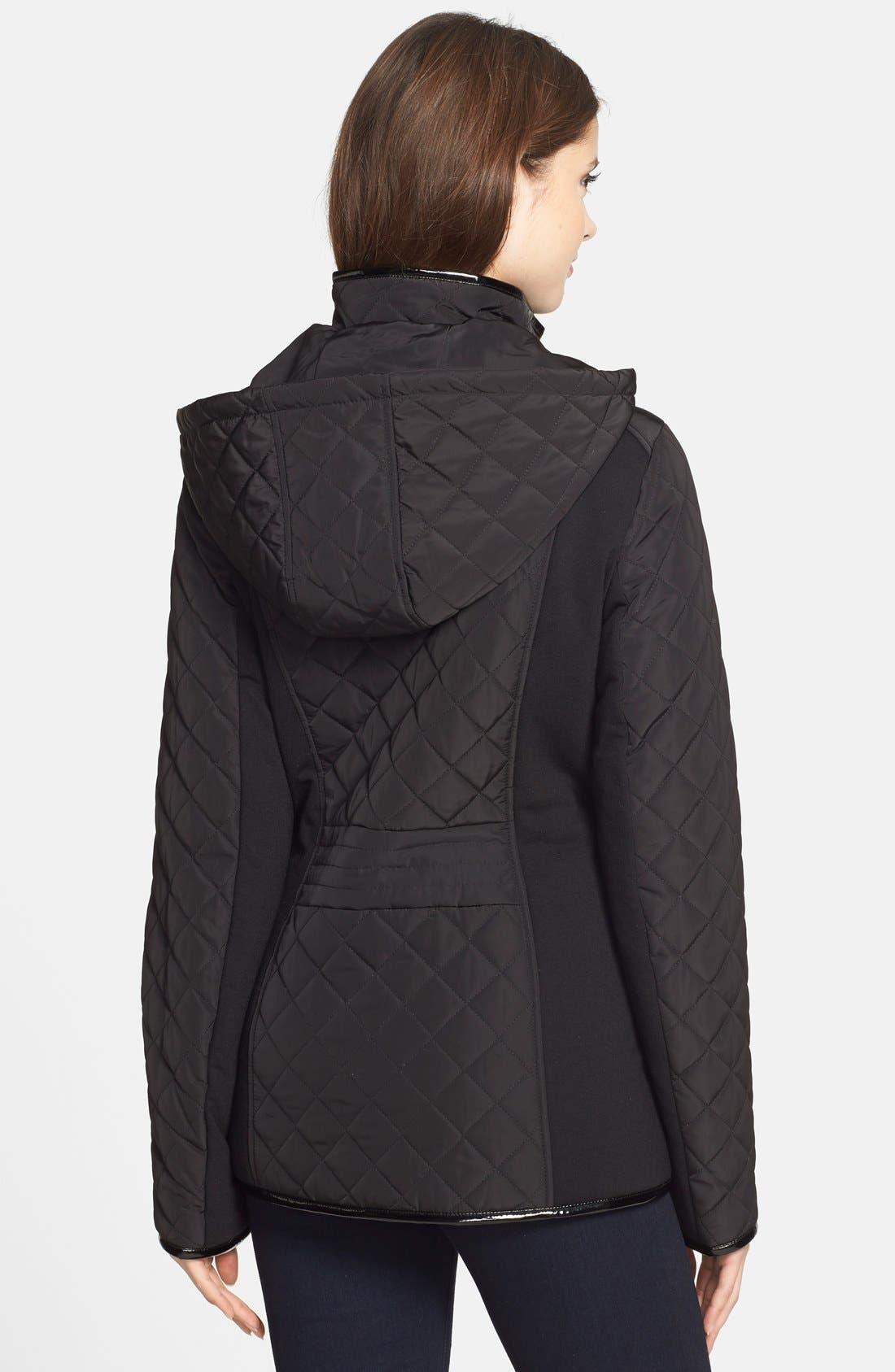 Alternate Image 2  - kensie Diamond Quilted Jacket (Online Only)