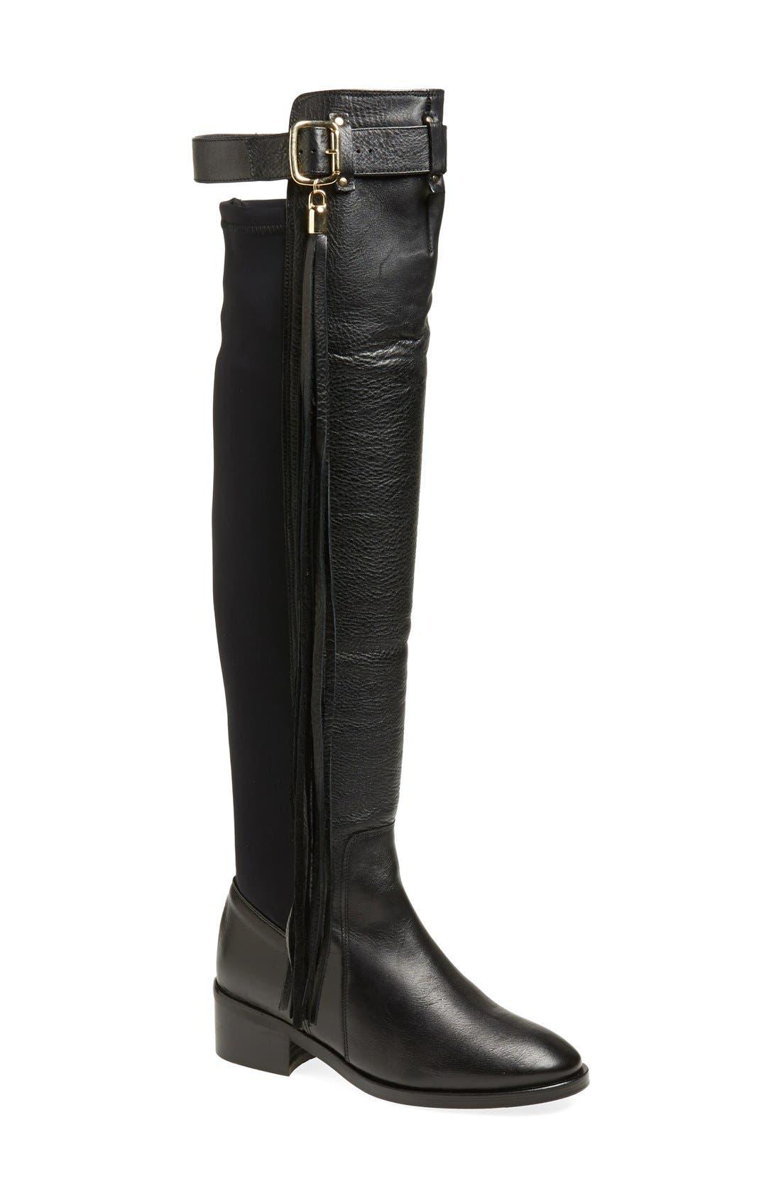 Alternate Image 1 Selected - KG Kurt Geiger 'Vixen' Over the Knee Leather Boot (Women)
