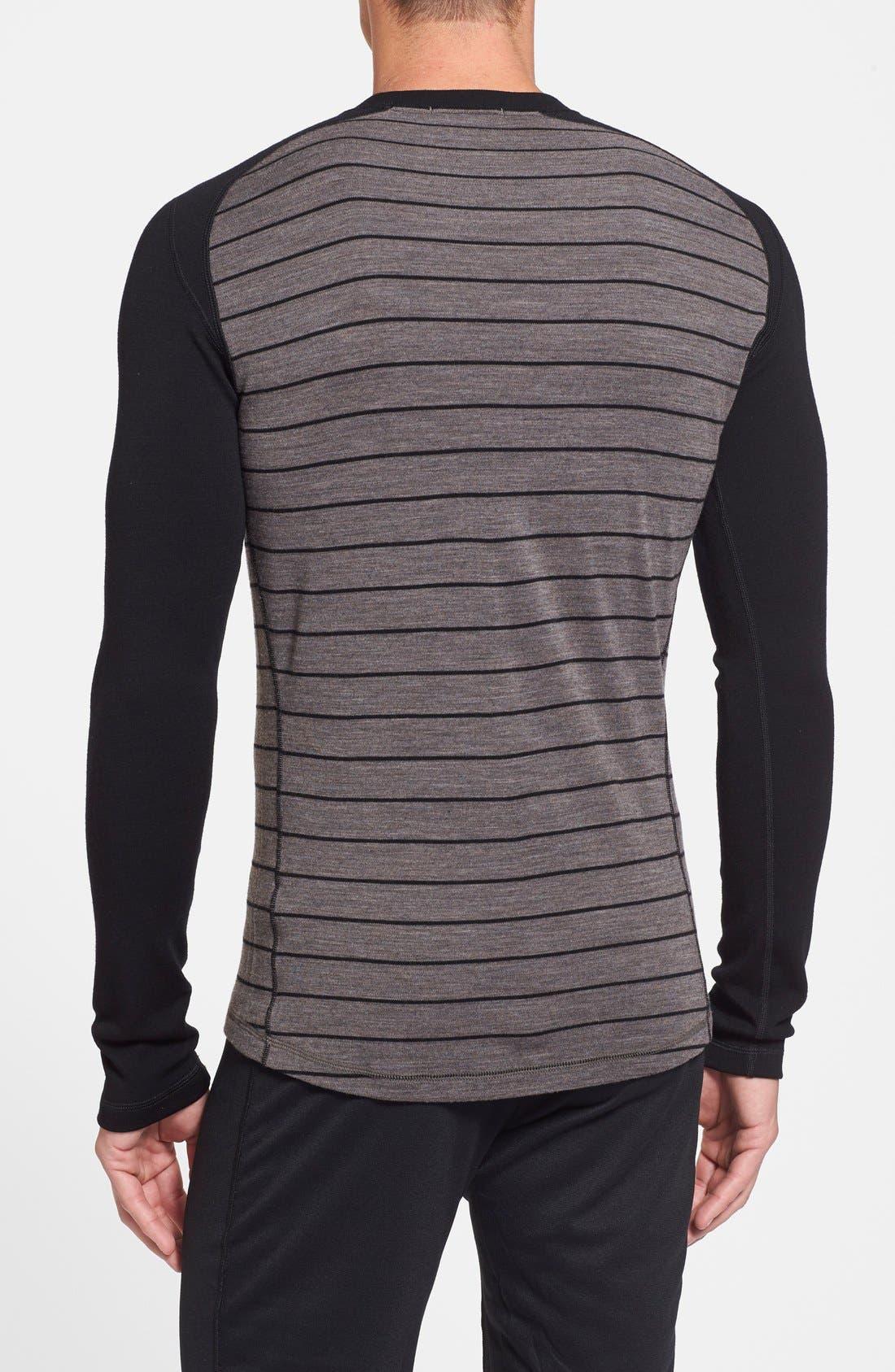 Alternate Image 2  - Smartwool 250g Base Layer Midweight Crewneck Shirt