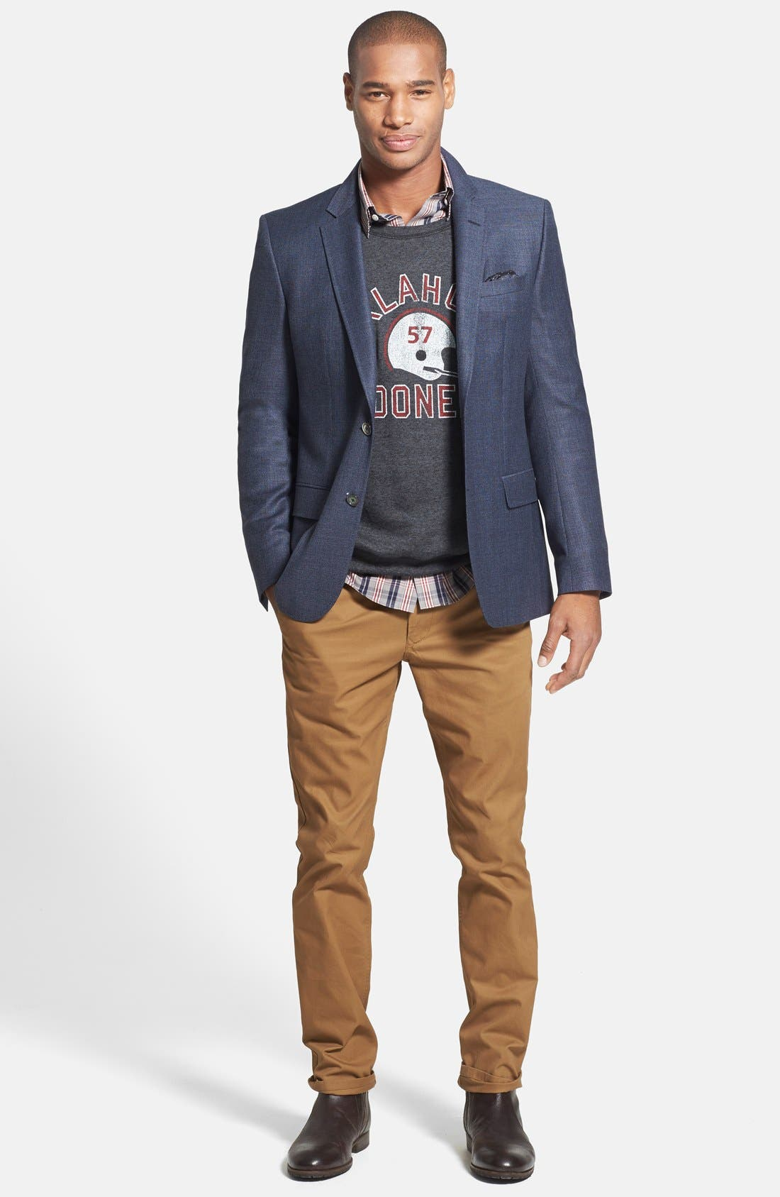 Alternate Image 4  - BOSS HUGO BOSS 'Hutson' Trim Fit Wool Blazer