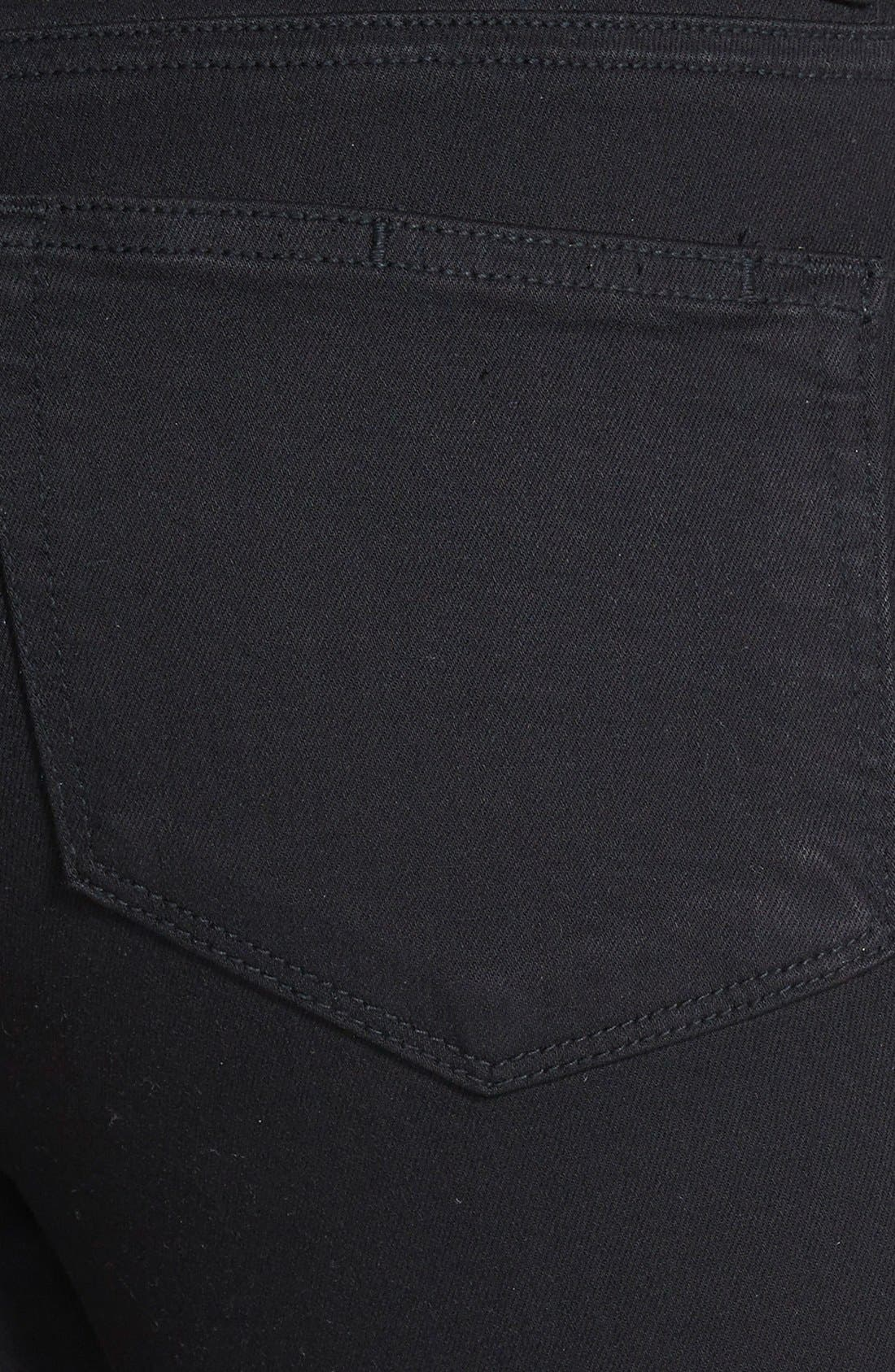 Alternate Image 3  - PAIGE Margot High Waist Ultra Skinny Jeans (Black Shadow)