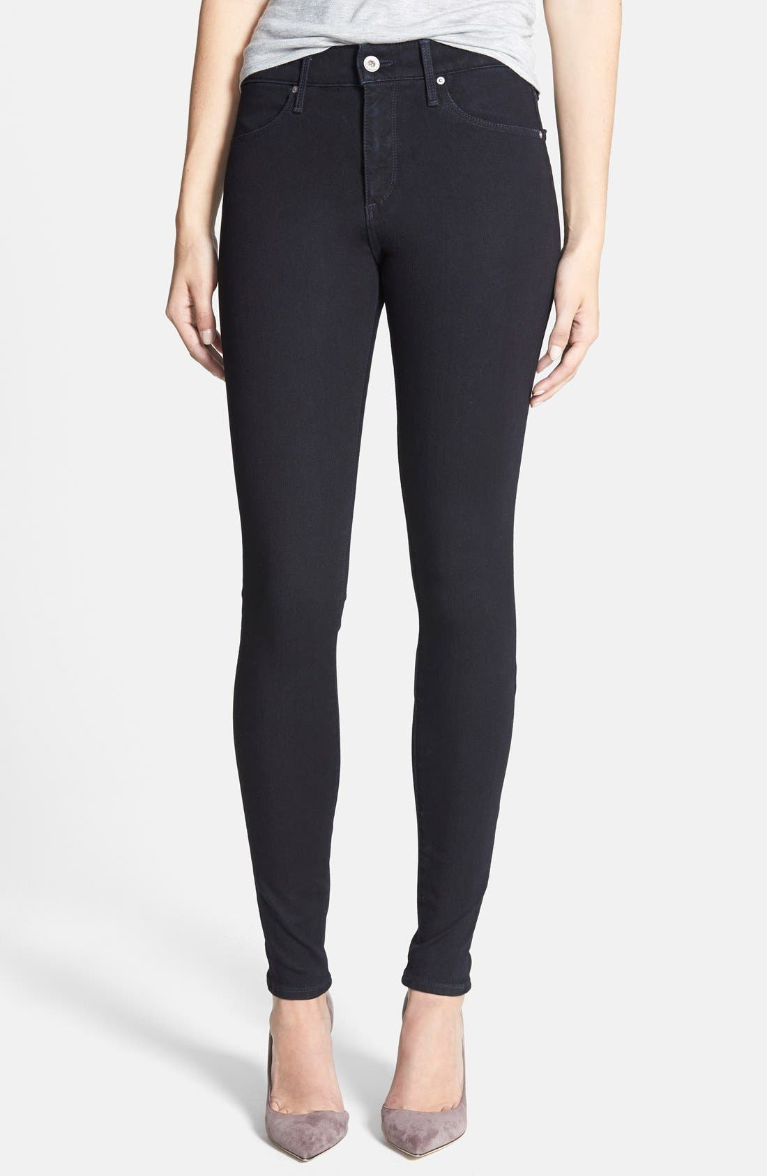 Alternate Image 1 Selected - AG Contour 360 - Farrah High Waist Skinny Jeans