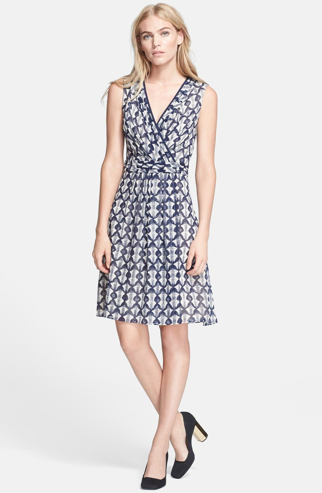 Main Image - Tory Burch 'Leyna' Print Silk Georgette Fit & Flare Dress