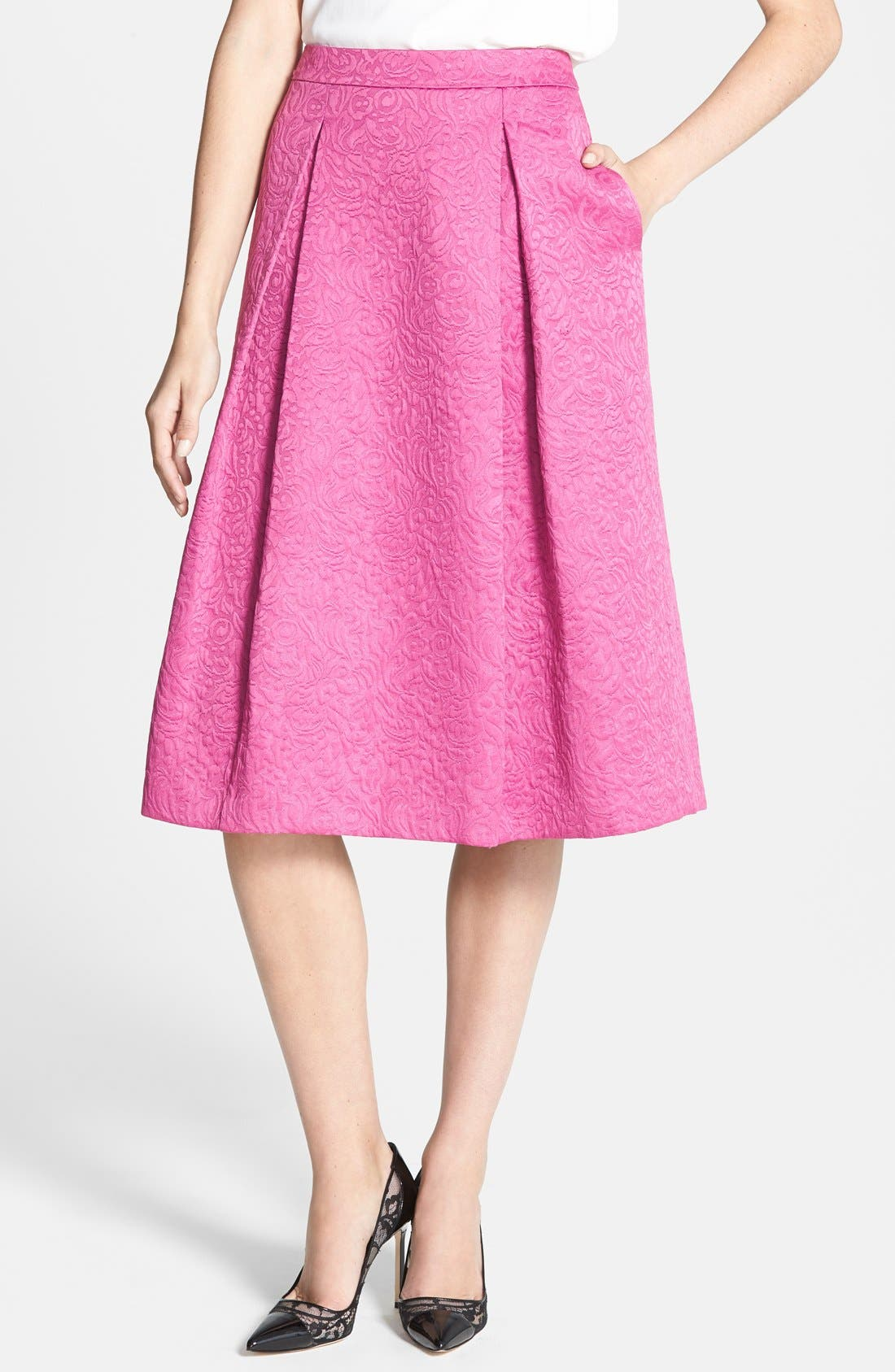 Full Pleat Skirt,                         Main,                         color, Pink Plumier