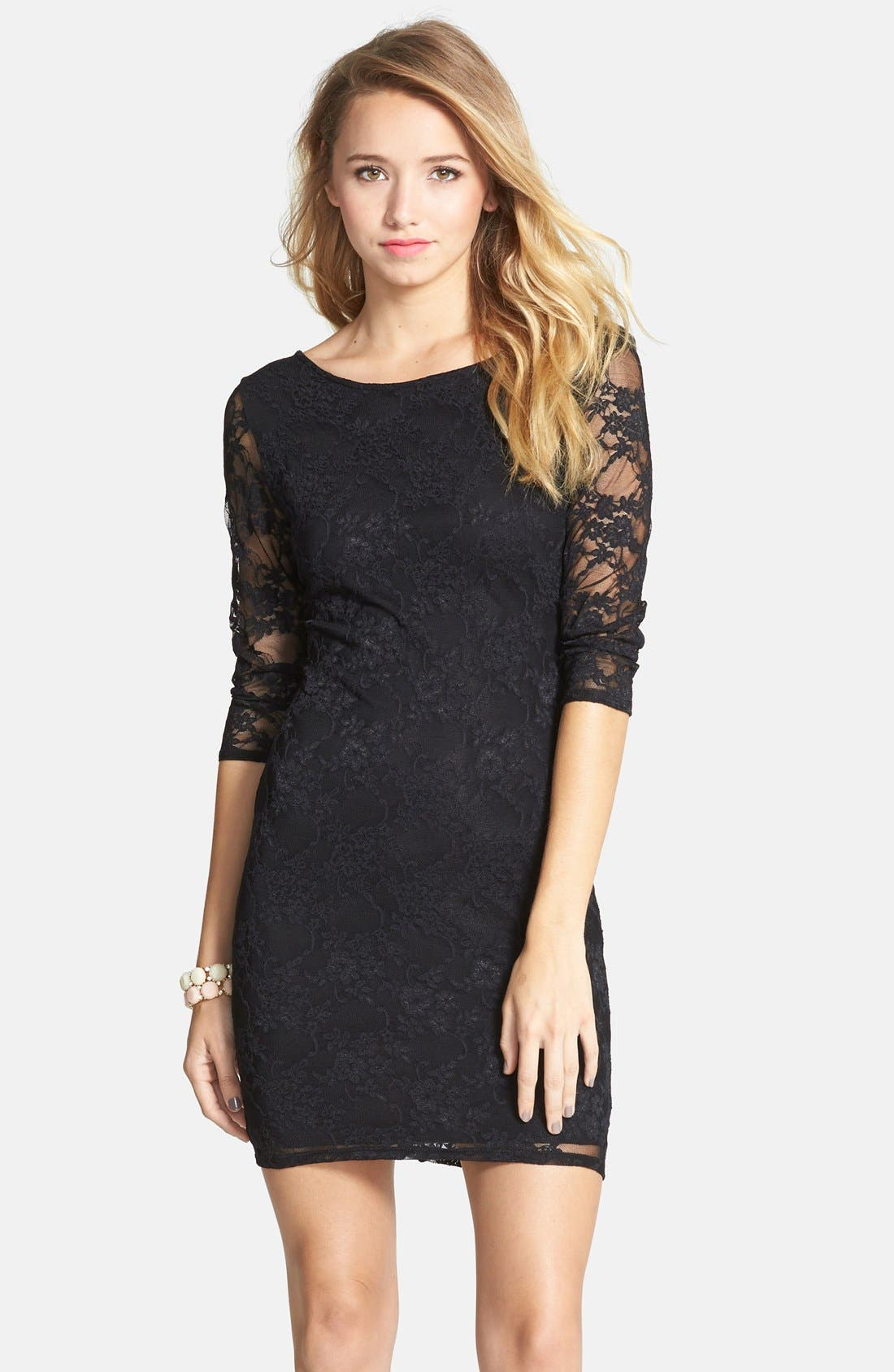 Main Image - BP. Lace Body-Con Dress (Juniors)