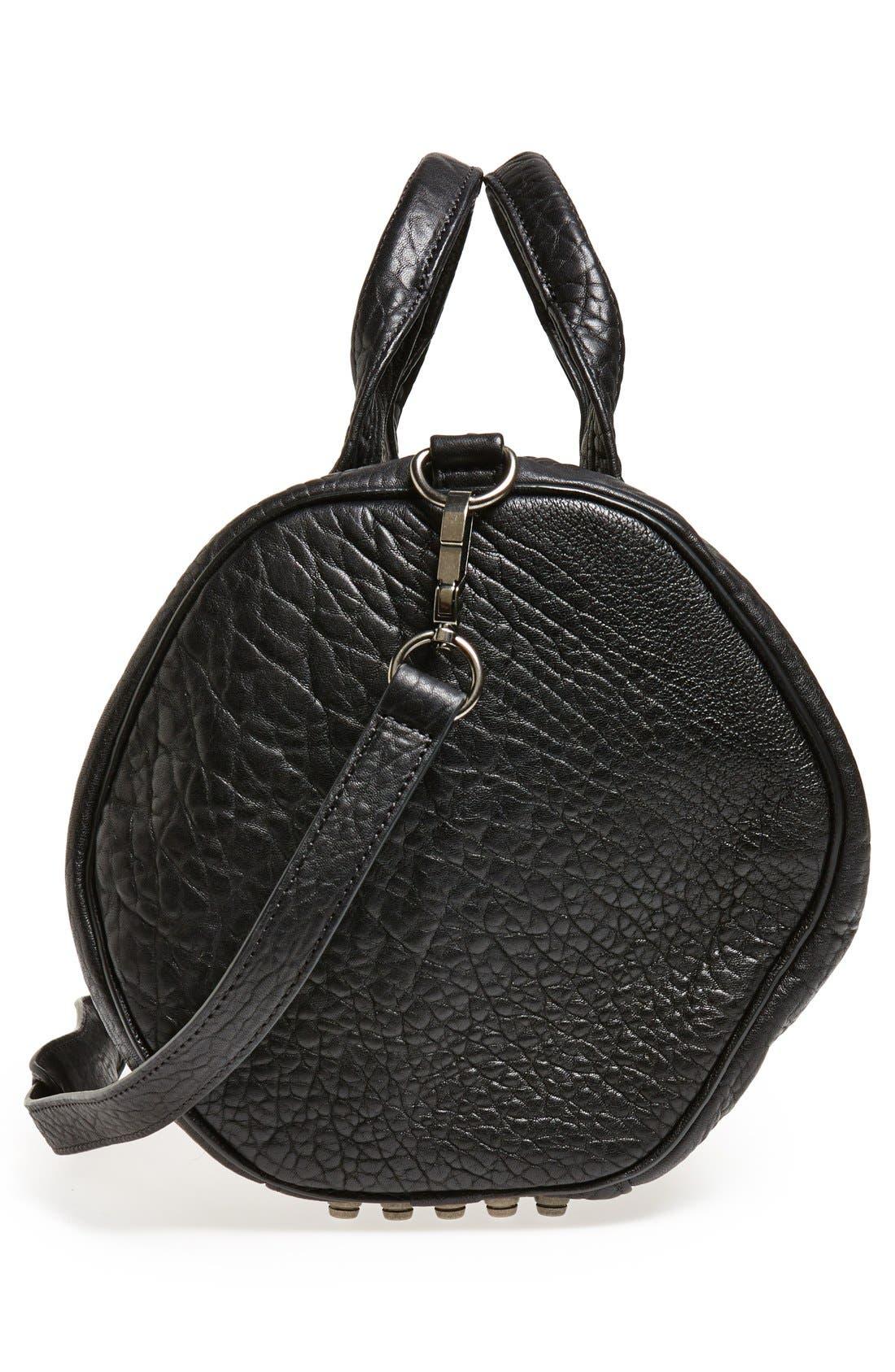 Alternate Image 4  - Alexander Wang 'Rocco - Black Nickel' Leather Satchel