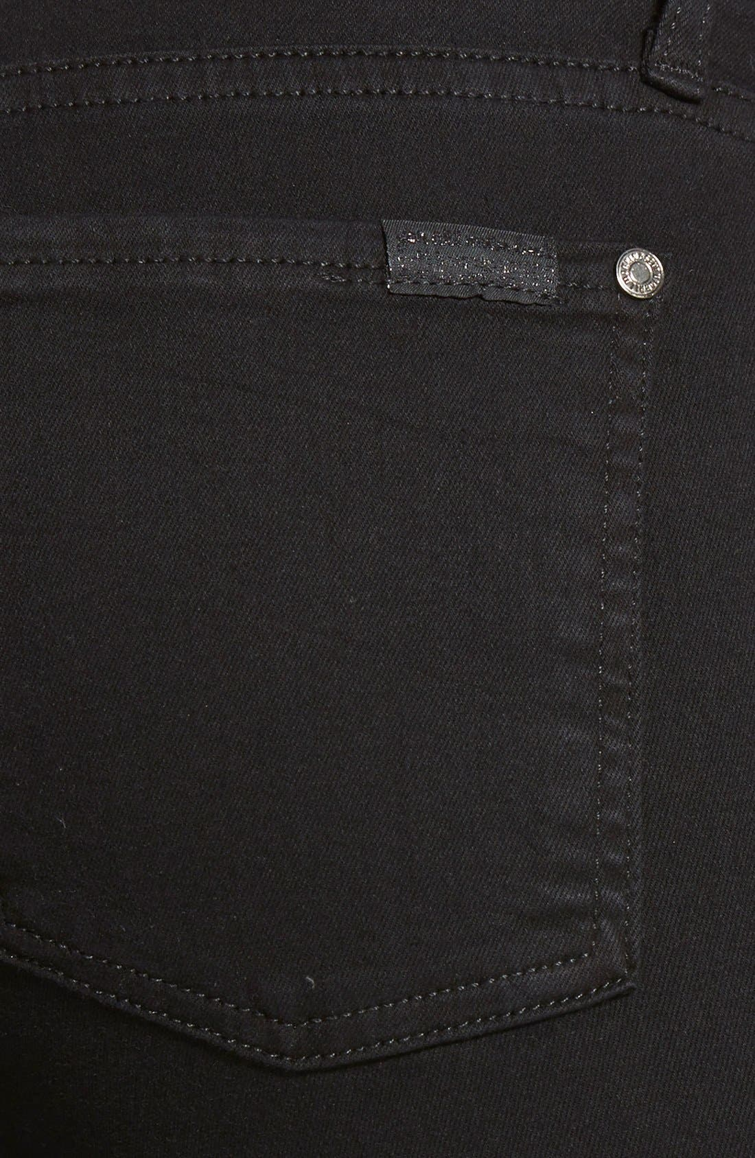 Alternate Image 3  - 7 For All Mankind® 'Slim Illusion Luxe' High Waist Skinny Jeans (Black)