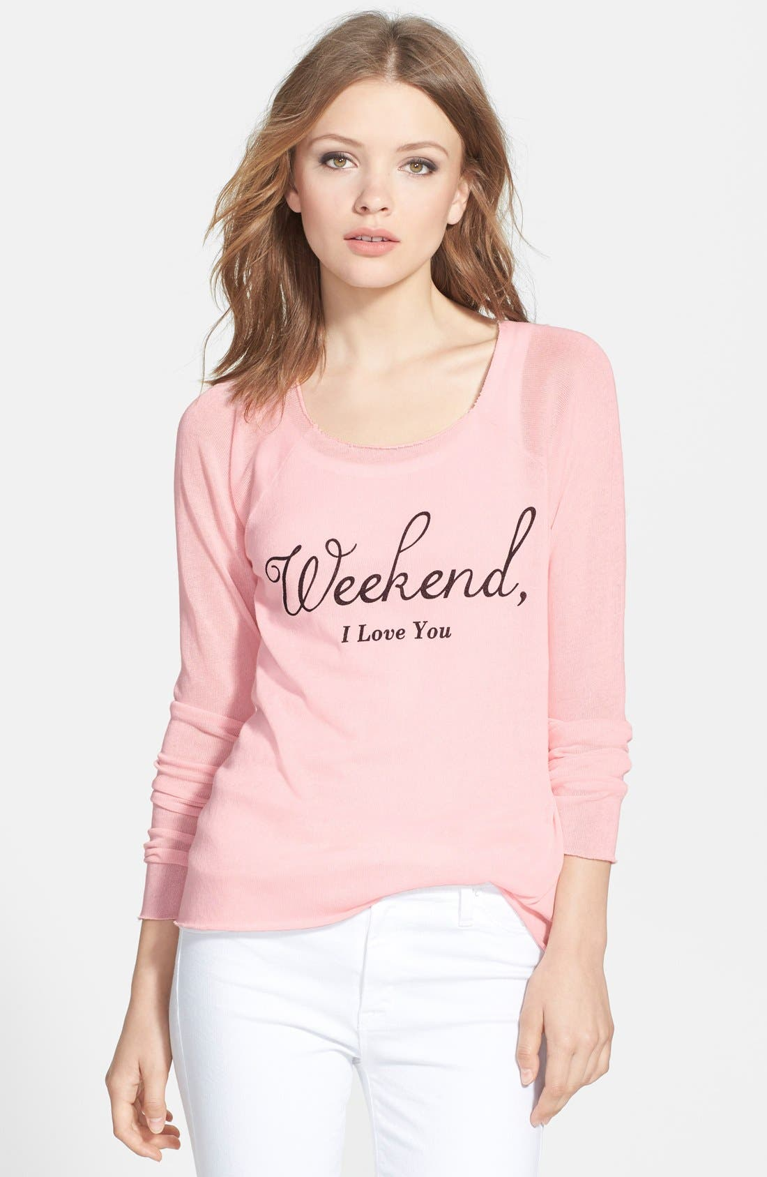 Main Image - Wildfox 'Weekend' Raglan Tee