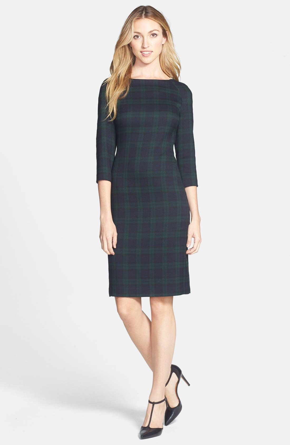 Alternate Image 1 Selected - Anne Klein Plaid Sheath Dress