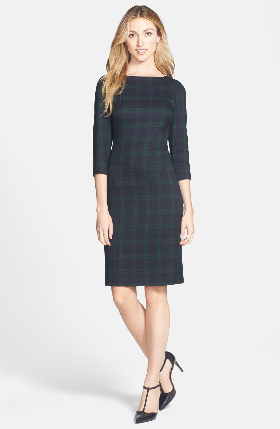 Main Image - Anne Klein Plaid Sheath Dress