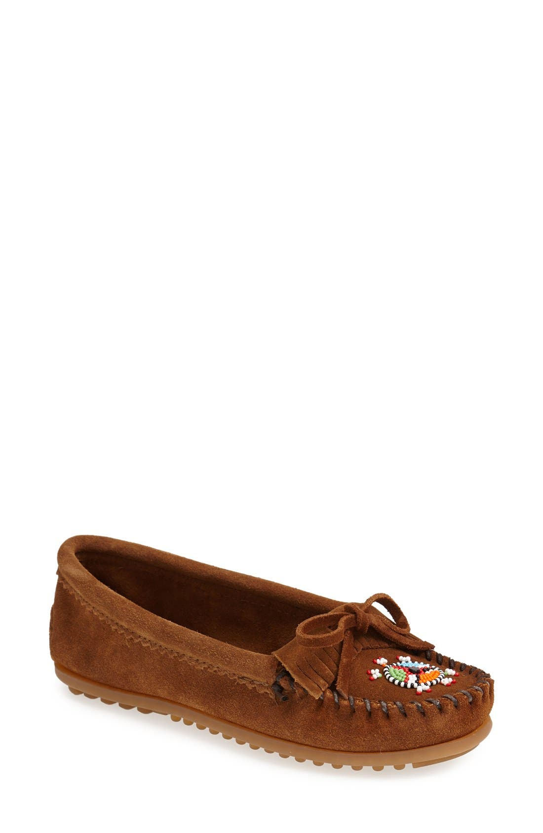 'Me to We Artisans - Kilty' Beaded Moccasin,                         Main,                         color, Dusty Brown