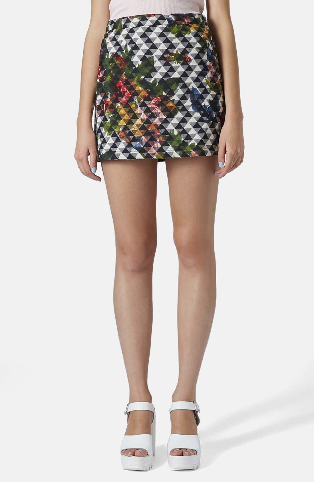 Main Image - Topshop Floral Print Pelmet Skirt