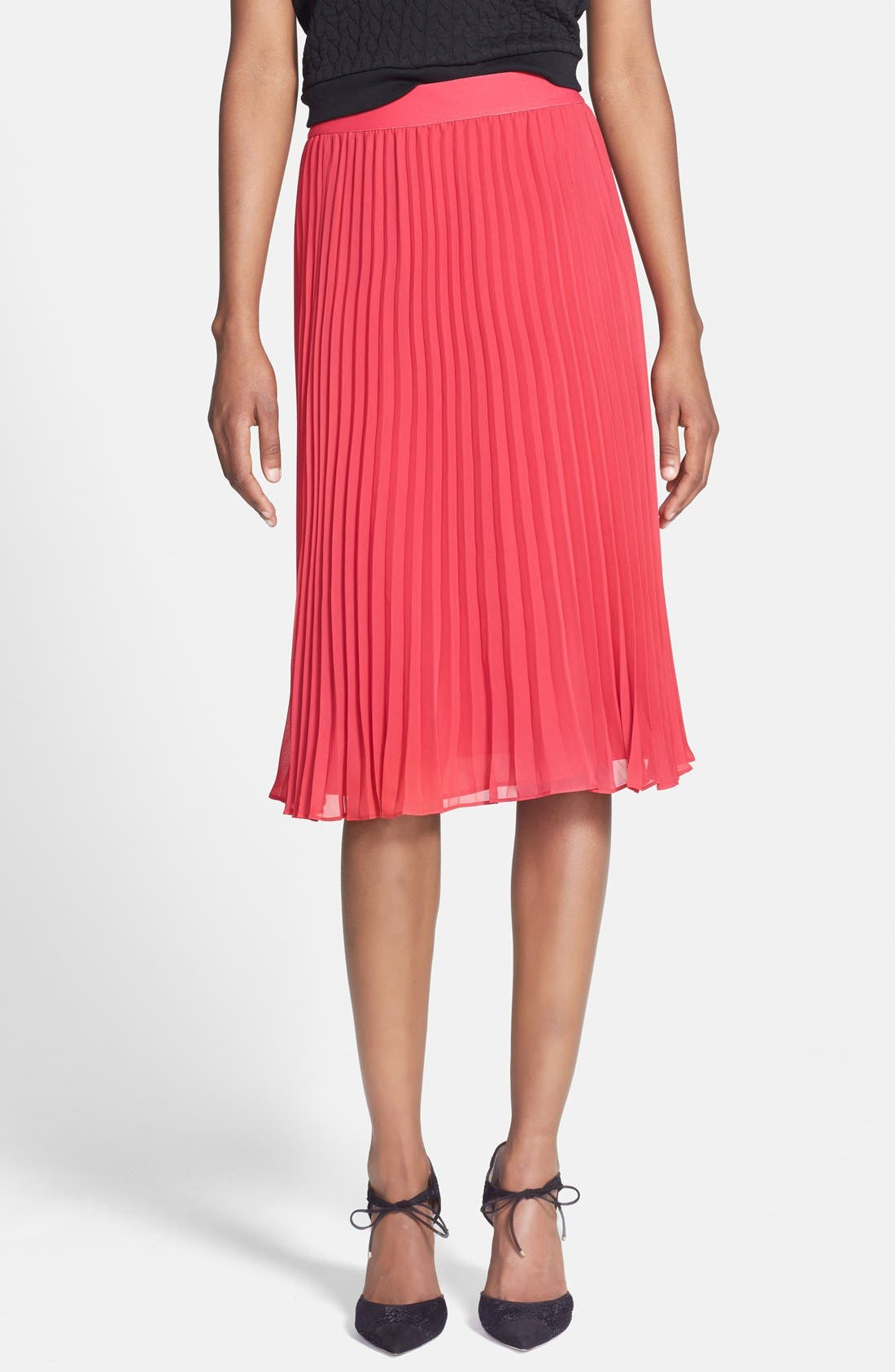 Main Image - Chelsea28 Pleated Midi Skirt