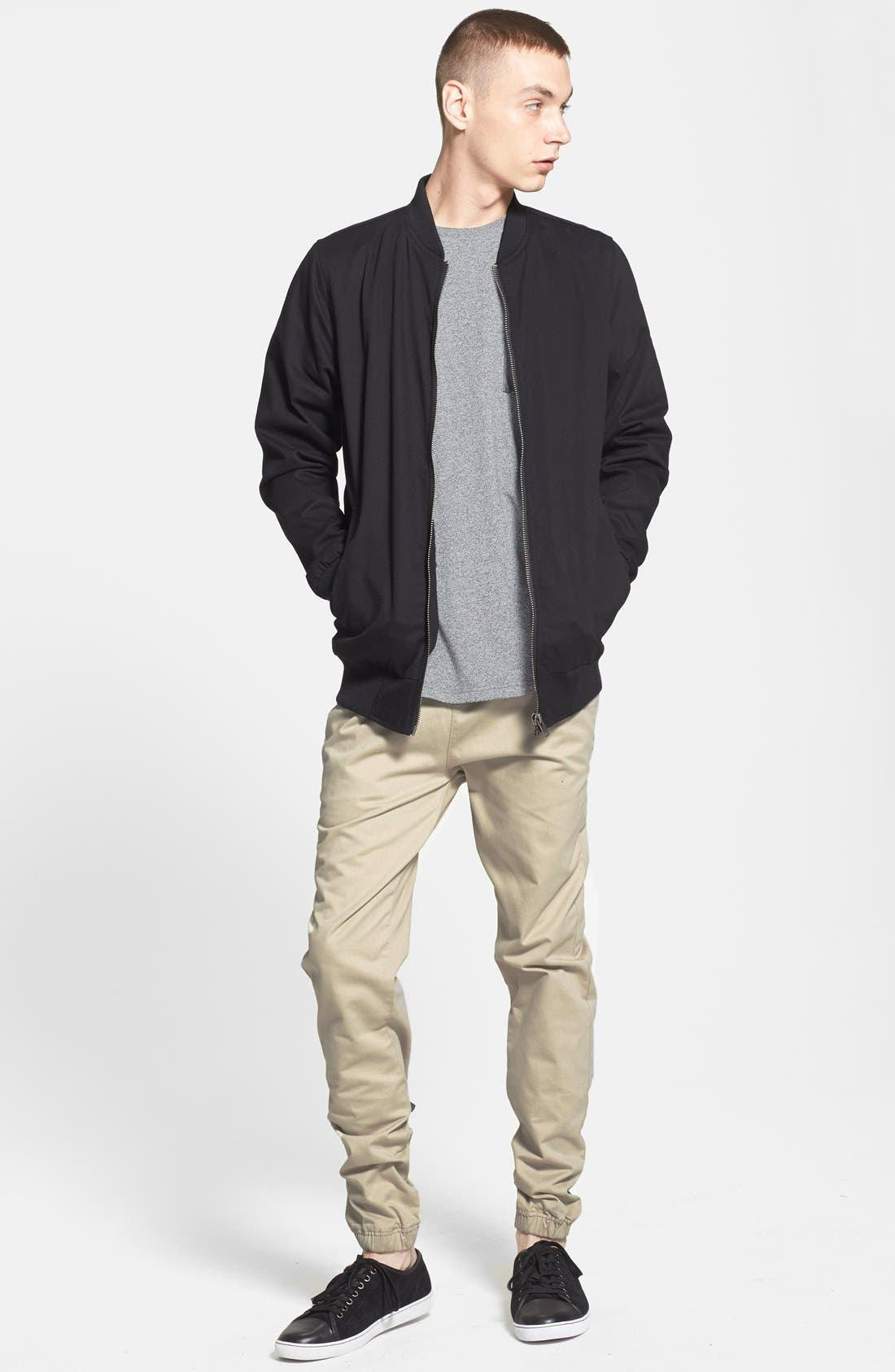 Alternate Image 6  - Topman Longline Lightweight Twill Bomber Jacket