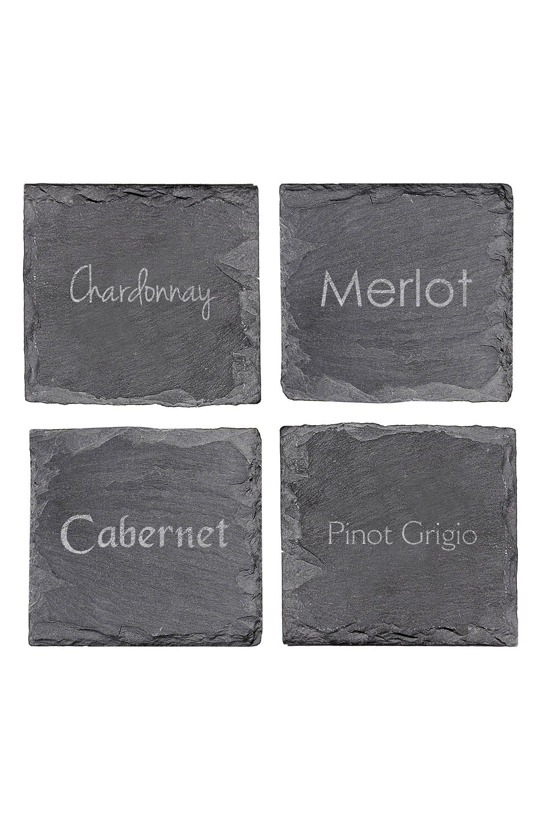 Alternate Image 2  - Cathy's Concepts 'Wine Connoisseur' Slate Coasters (Set of 4)