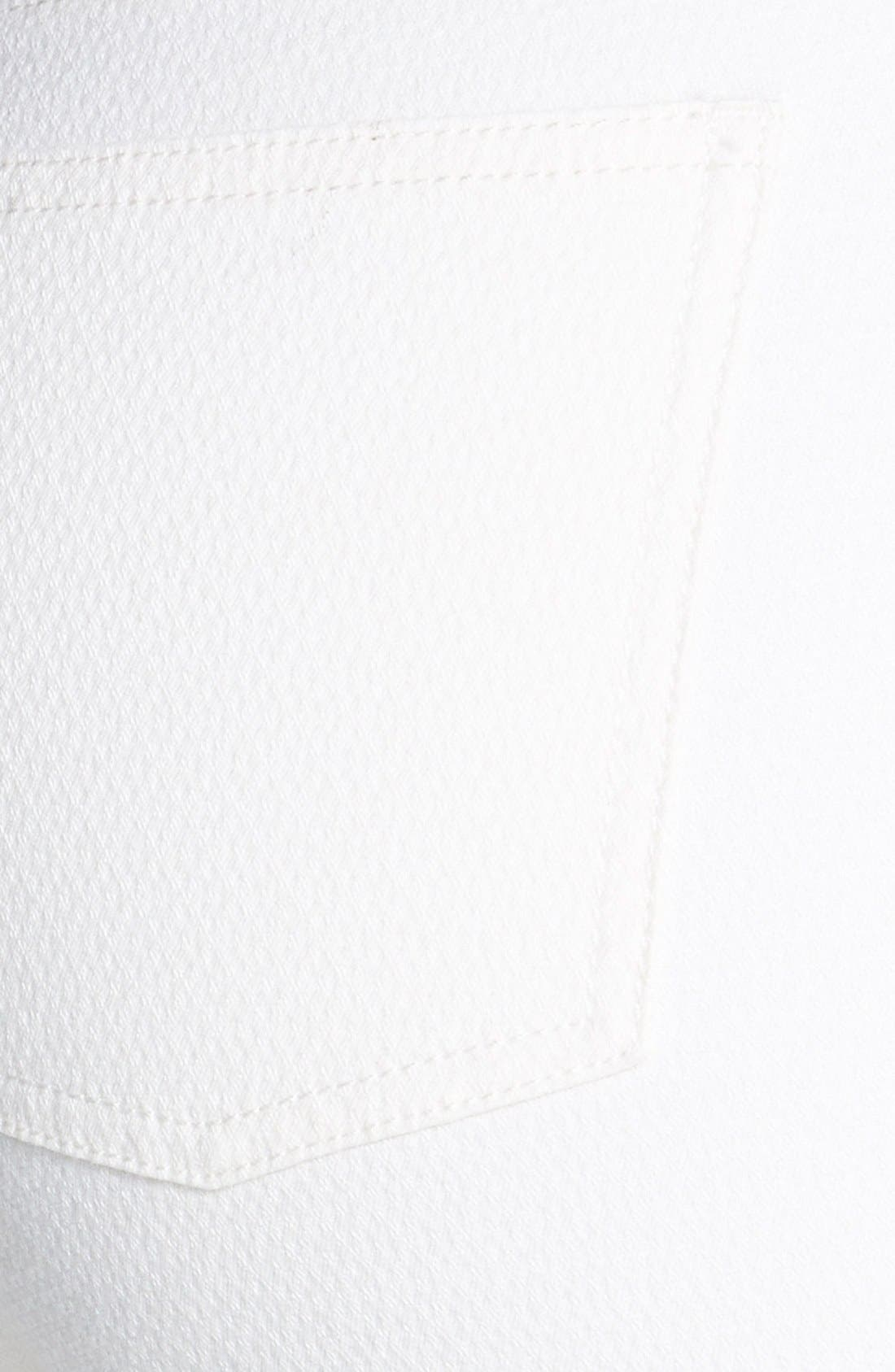 Alternate Image 3  - Eileen Fisher Ankle Skinny Jeans (Soft White) (Petite)