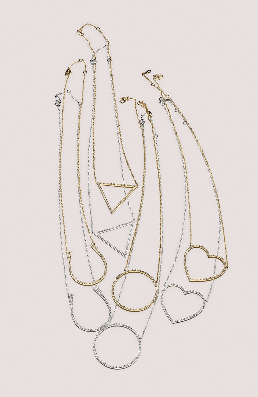 Alternate Image 3  - Nadri Pavé Heart Pendant Necklace