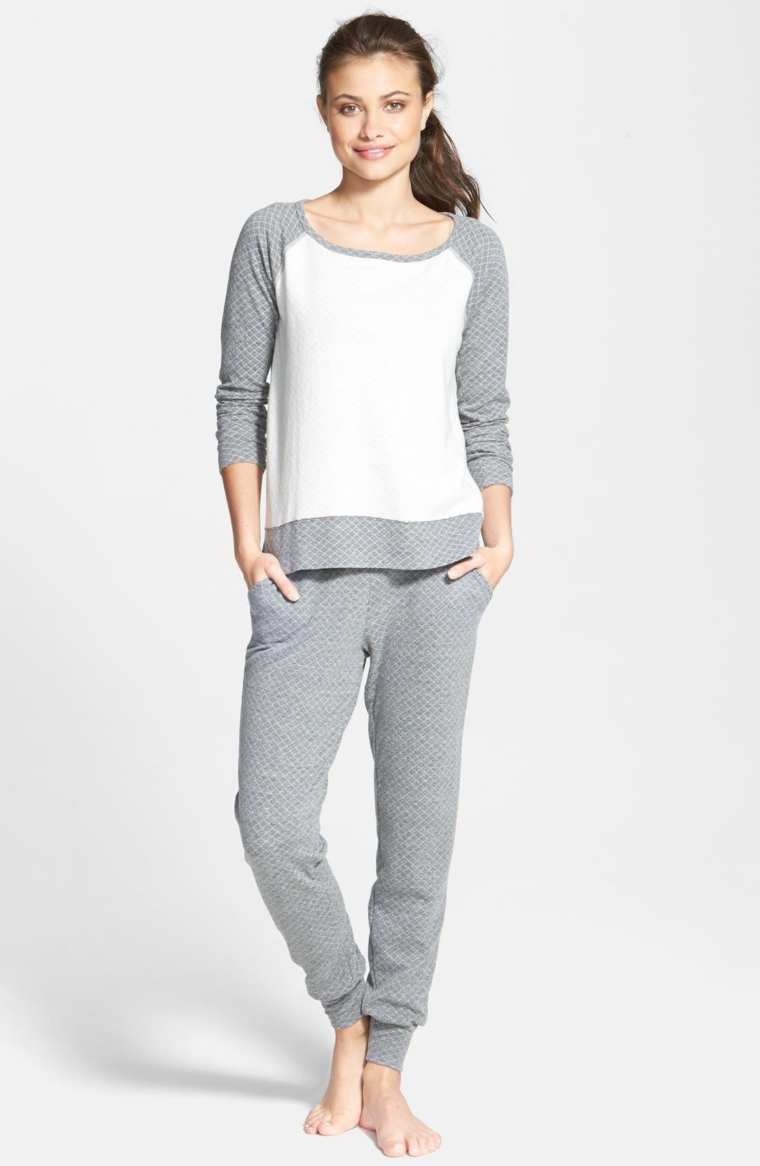Alternate Image 3  - Beyond Yoga Quilted Sweatpants