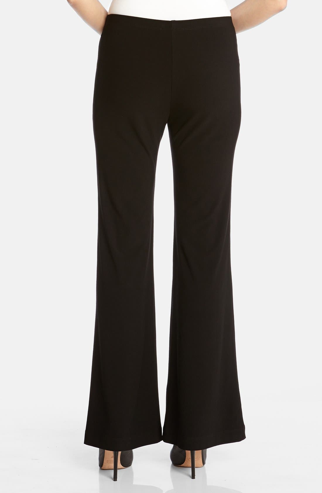 Wide Leg Crepe Pants,                             Alternate thumbnail 2, color,                             Black