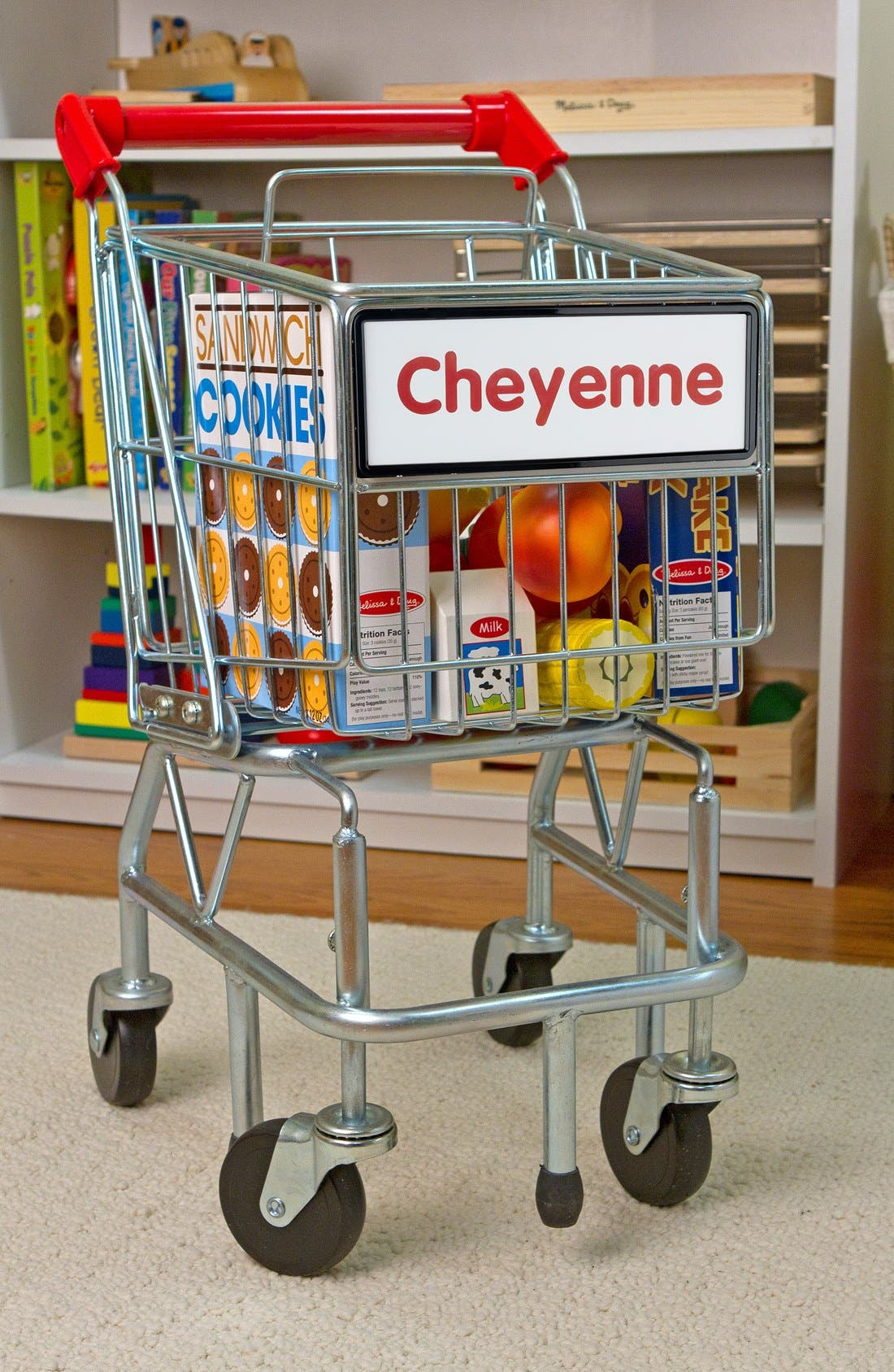 Personalized Shopping Cart,                         Main,                         color, Red