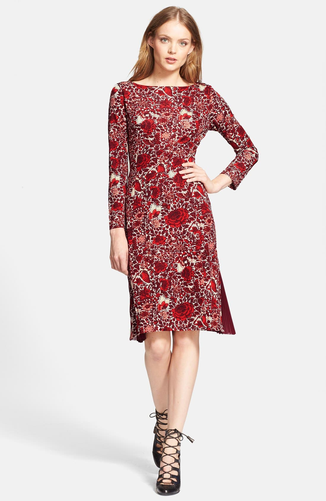 Alternate Image 1 Selected - Tory Burch 'Ria' Floral Print Shift Dress