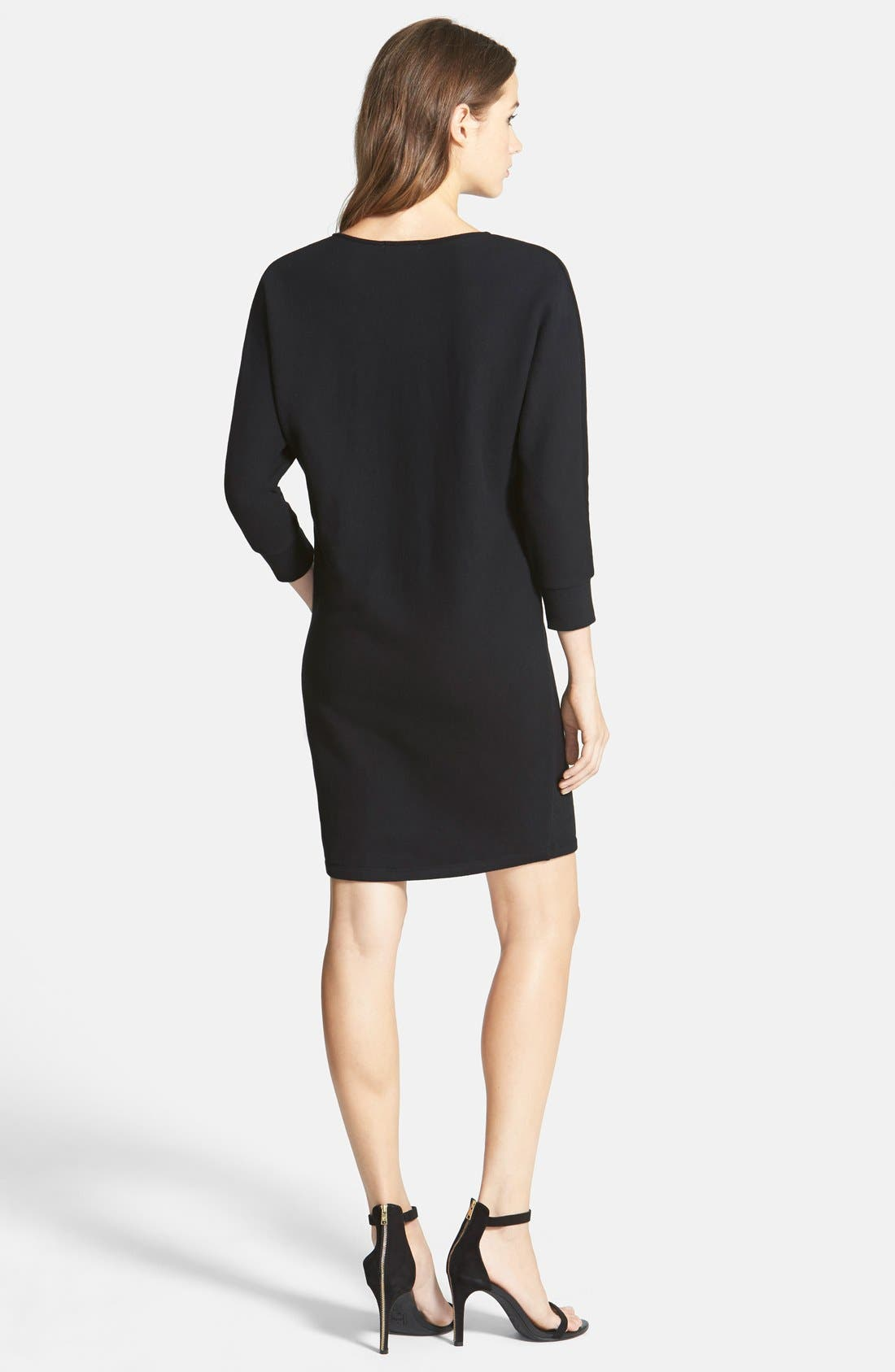 Alternate Image 2  - James Perse Brushed Fleece Dress