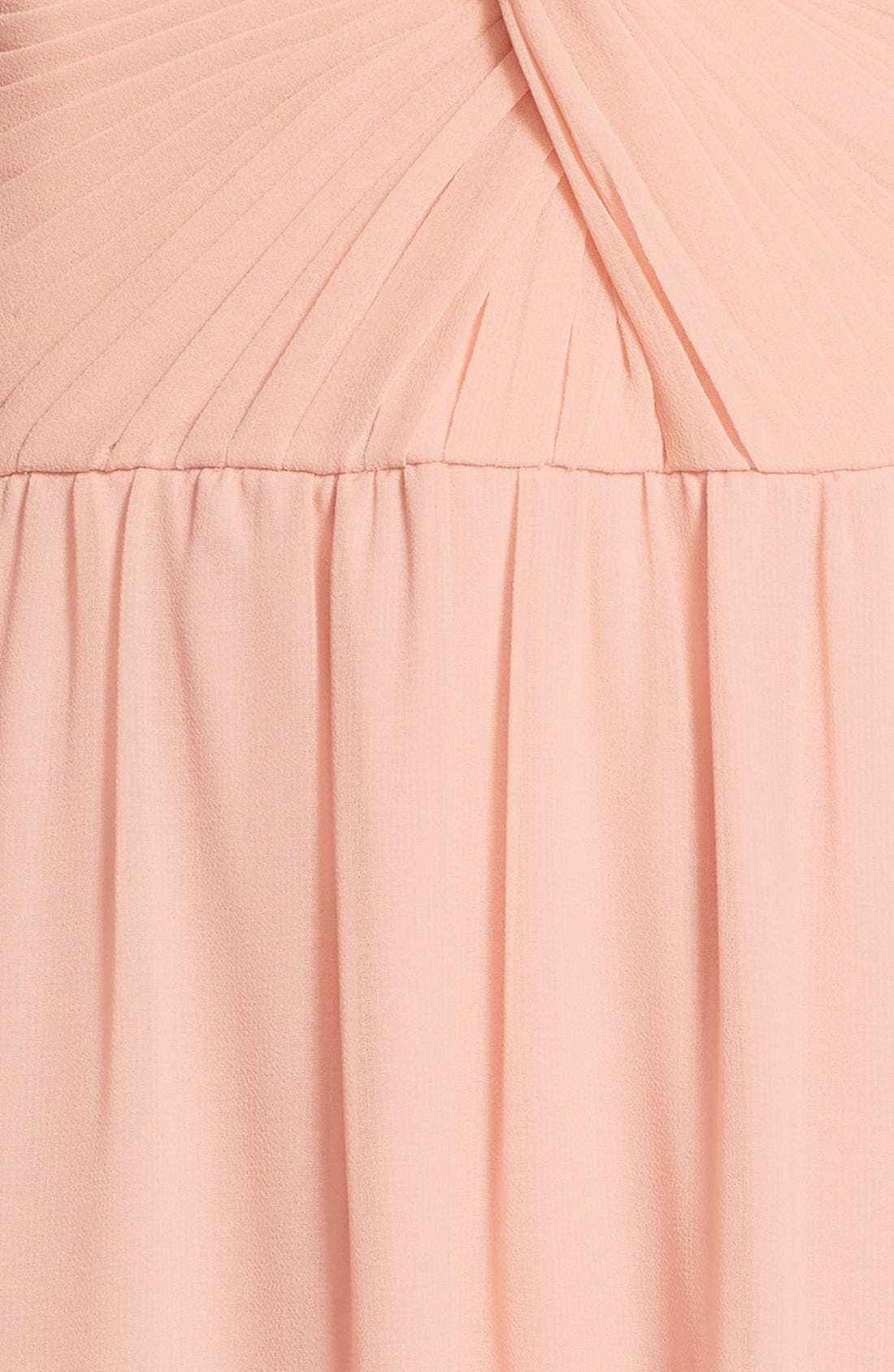 Alternate Image 3  - ERIN erin fetherston 'Clarisse' Off the Shoulder Front Twist Chiffon Gown
