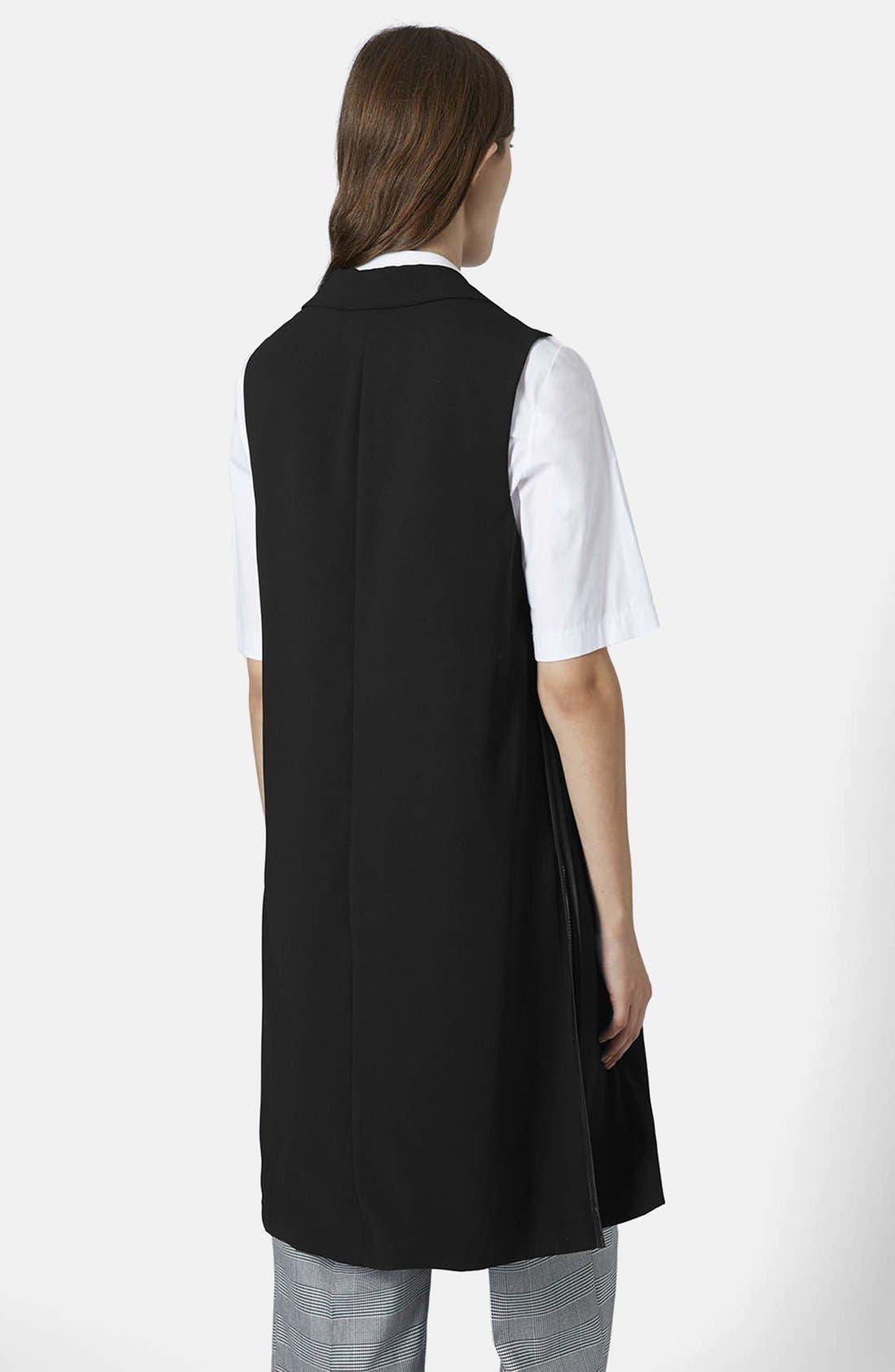 Alternate Image 2  - Topshop Sleeveless Side Split Coat