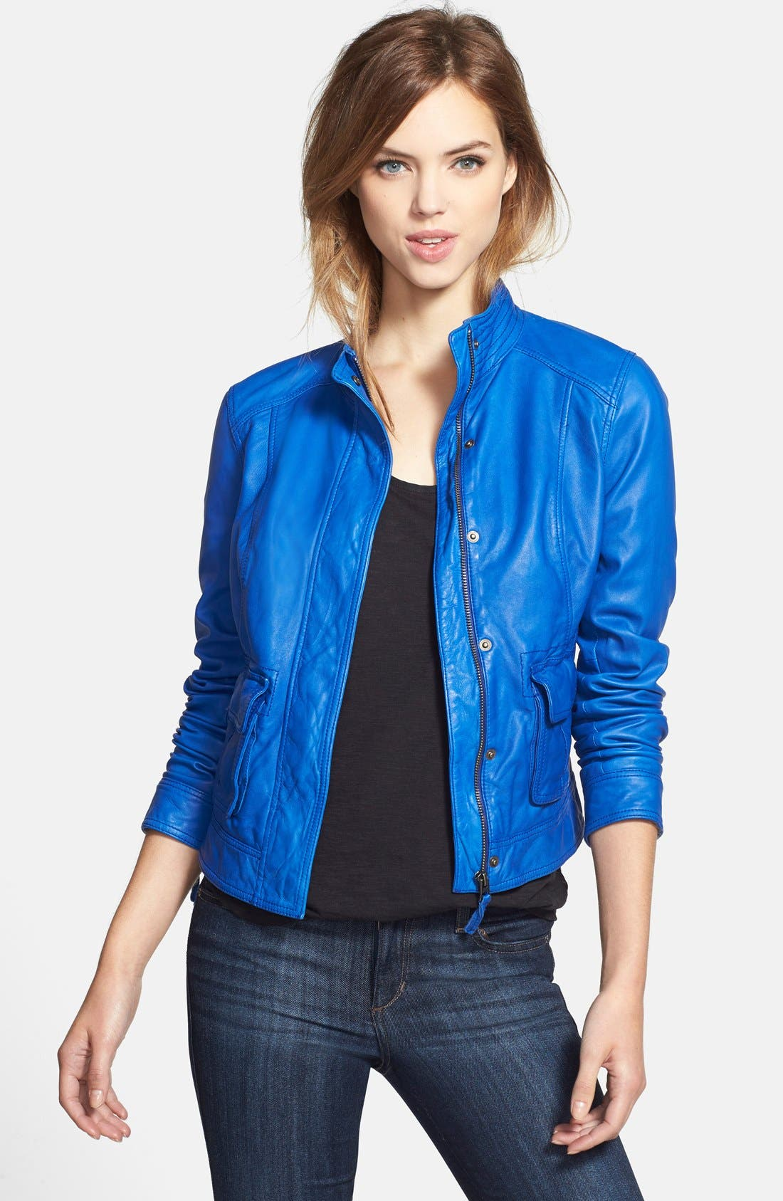 Main Image - Lucky Brand 'Downtown Gypsy' Leather Jacket