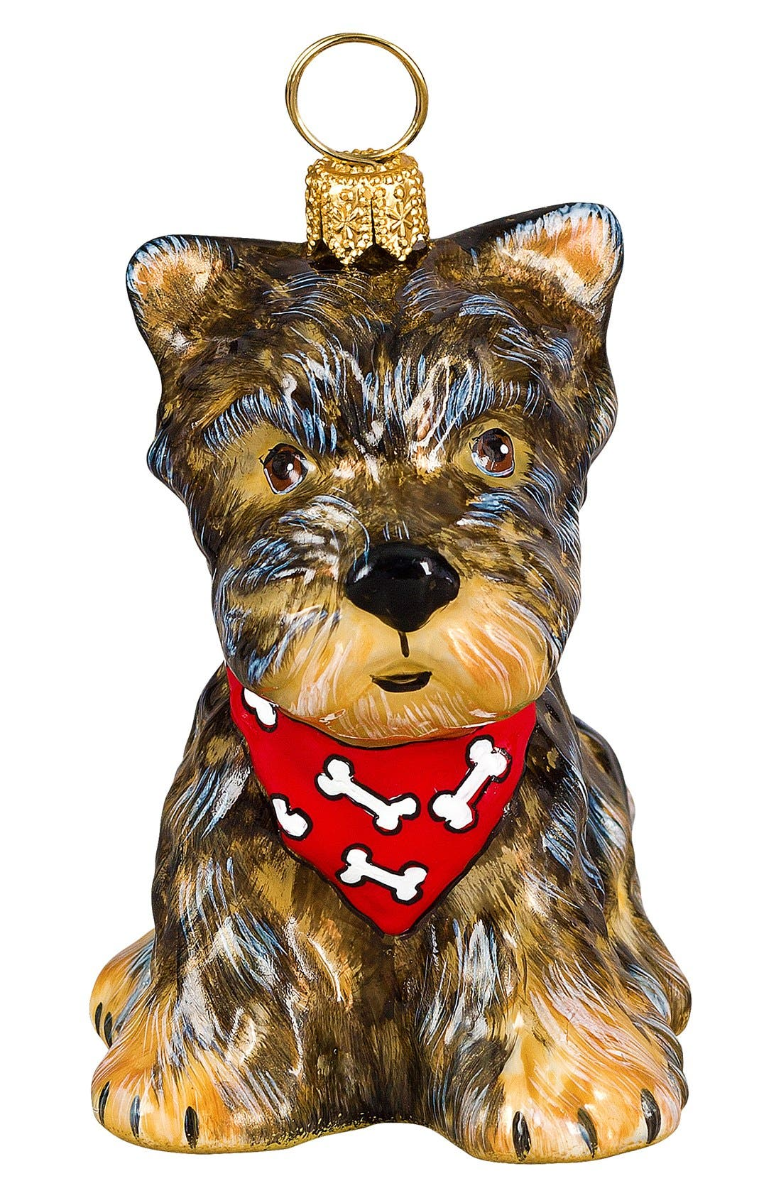 'Dog with Bandana' Ornament,                         Main,                         color, Yorkshire Terrier