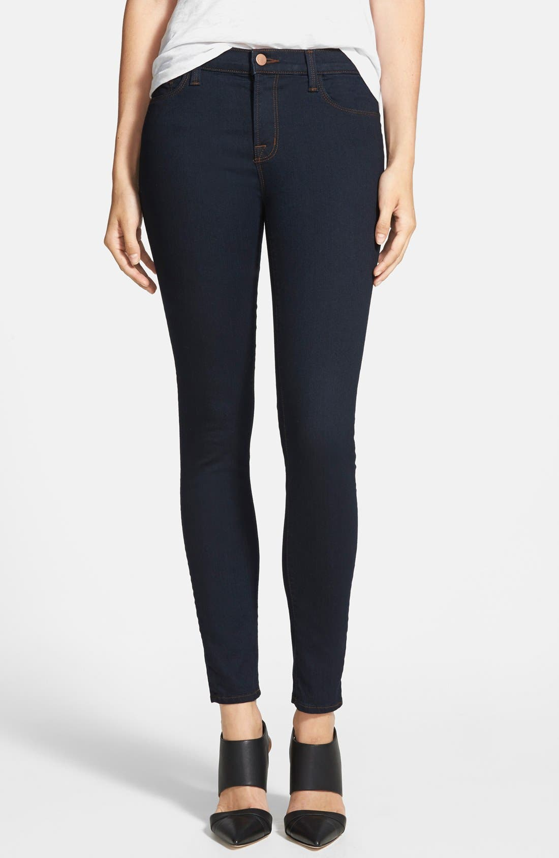'811' Ankle Skinny Jeans,                         Main,                         color, Ink