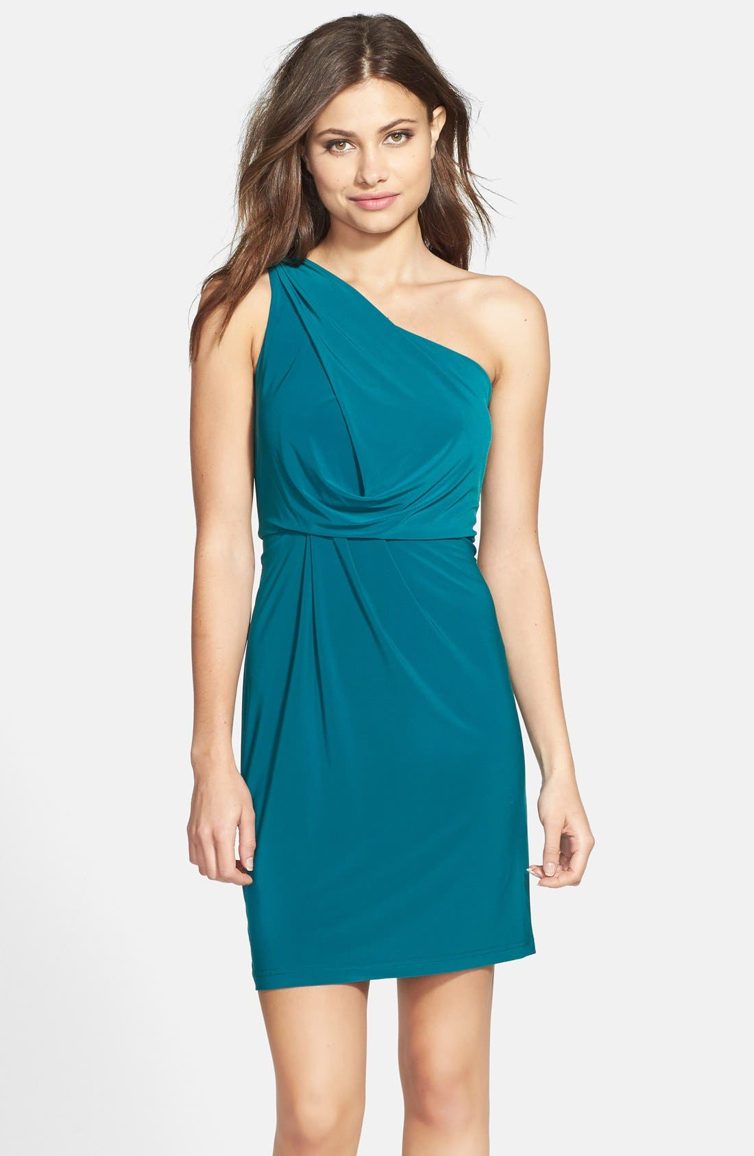 Main Image - Hailey by Adrianna Papell Jersey One-Shoulder Dress