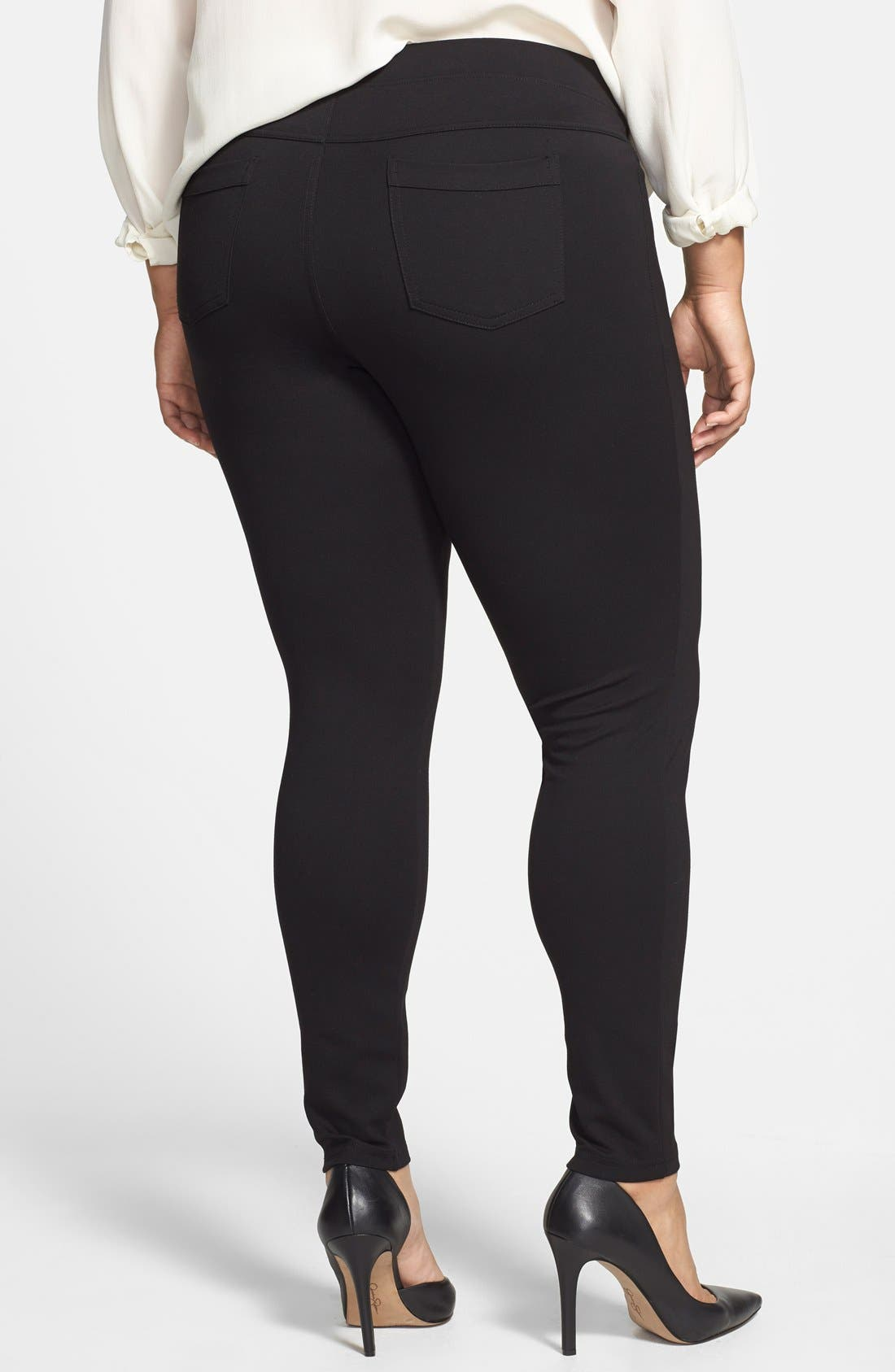 Alternate Image 2  - Hue Ponte Knit Leggings (Plus Size)