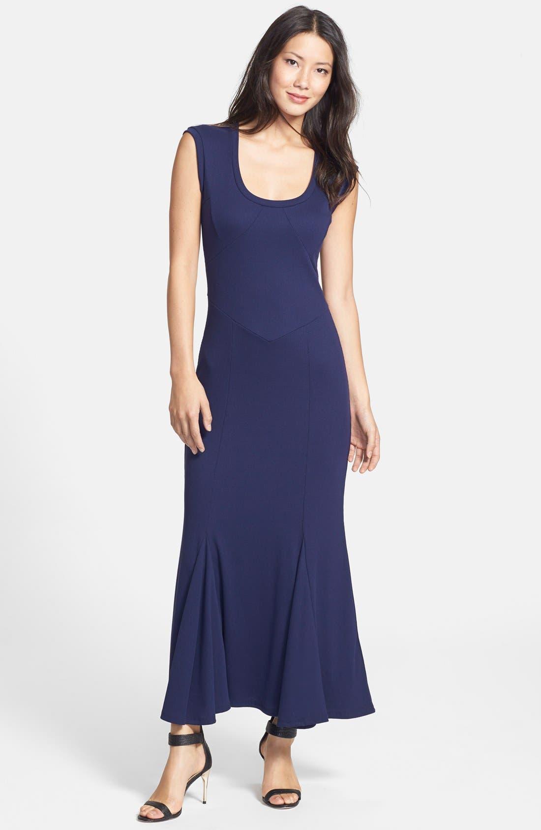 'Amber' Scoop Neck Maxi Dress,                         Main,                         color, Navy