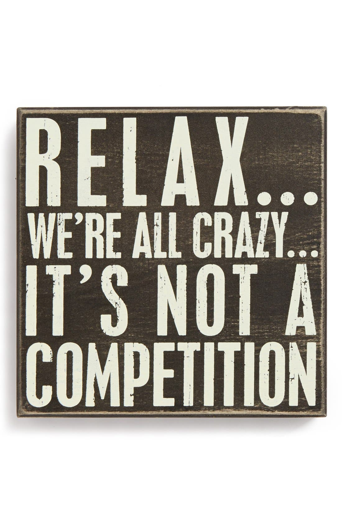 RELAX WE'RE ALL CRAZY IT'S NOT A COMPETITION Mens Shoes